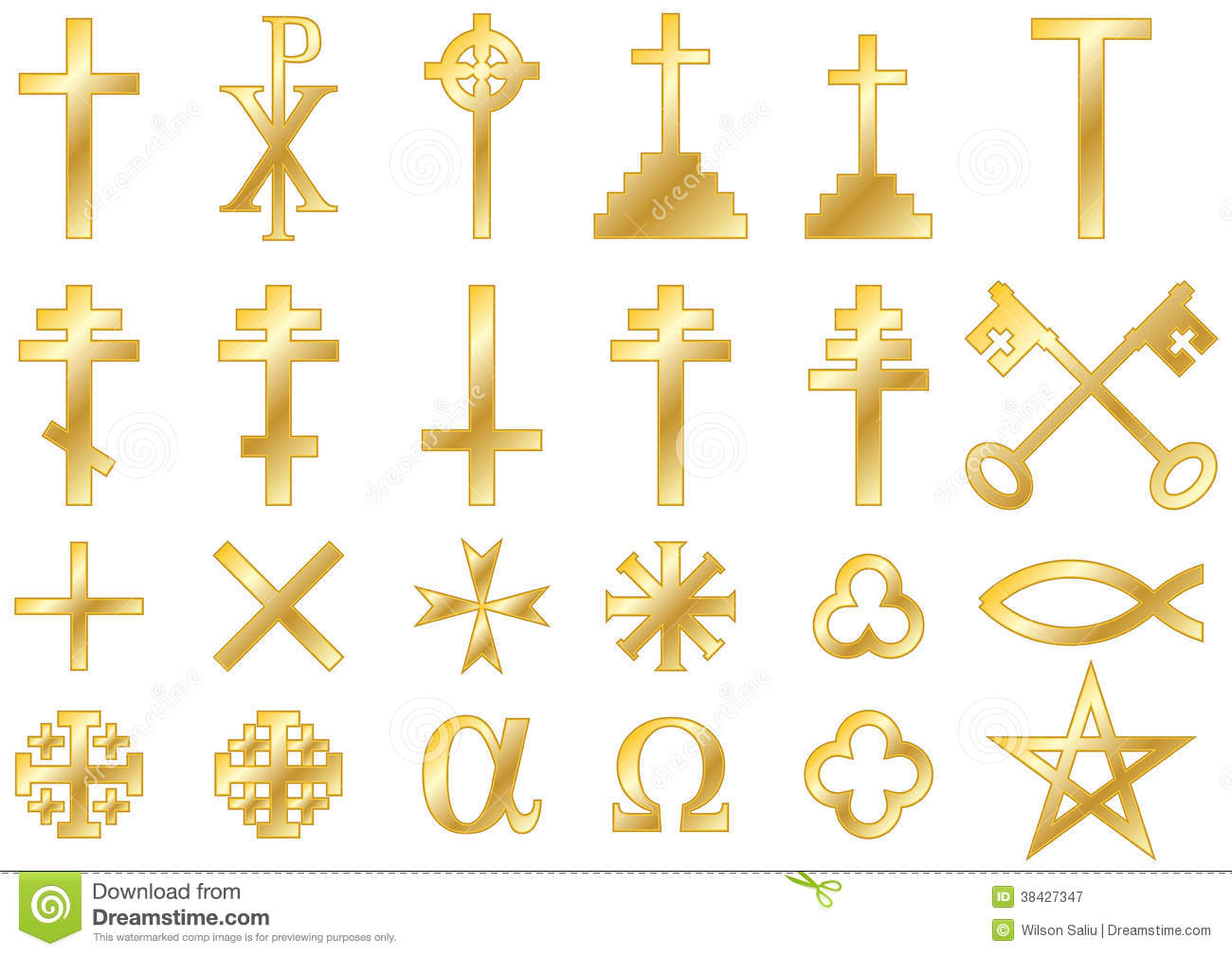 Christian religious symbols gold stock illustration illustration christian religious symbols gold biocorpaavc Image collections