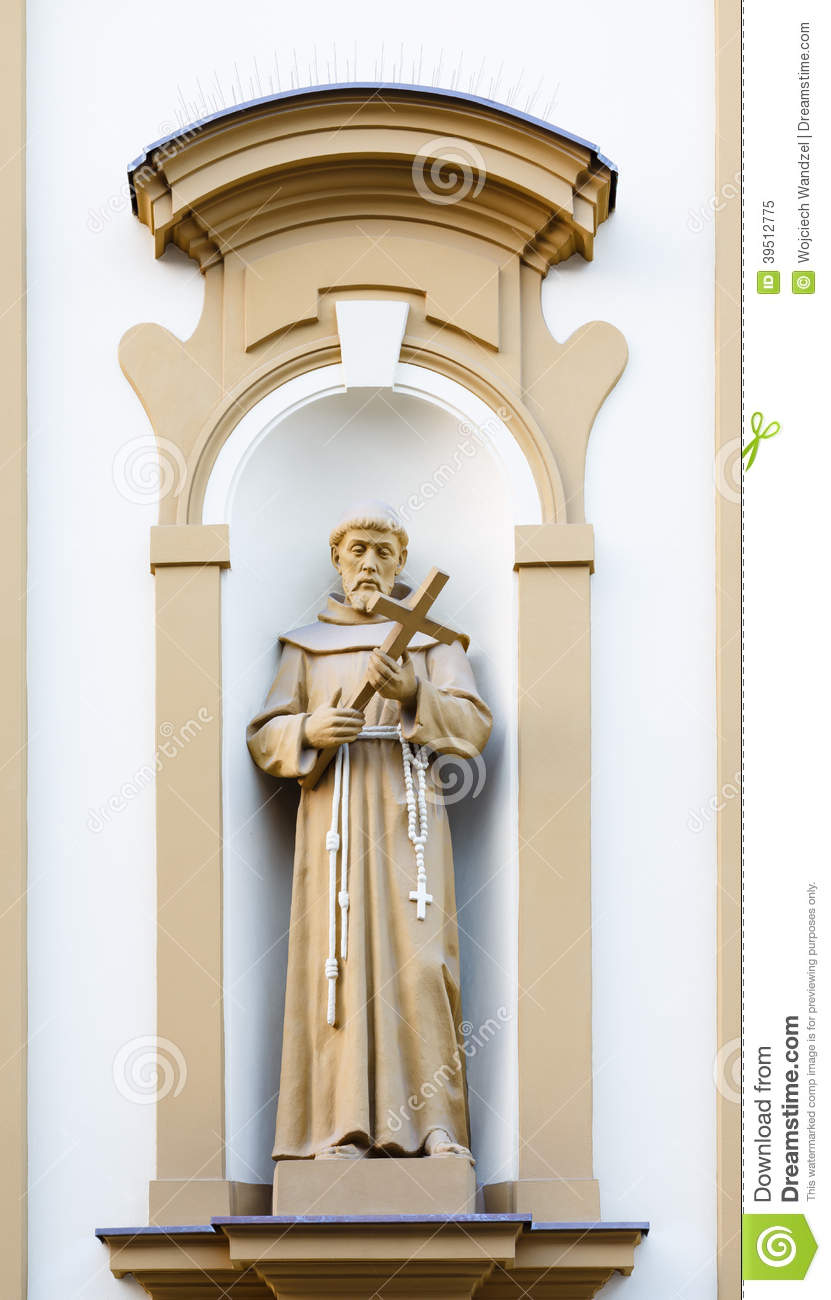 Christian sculpture at the facade of the Church