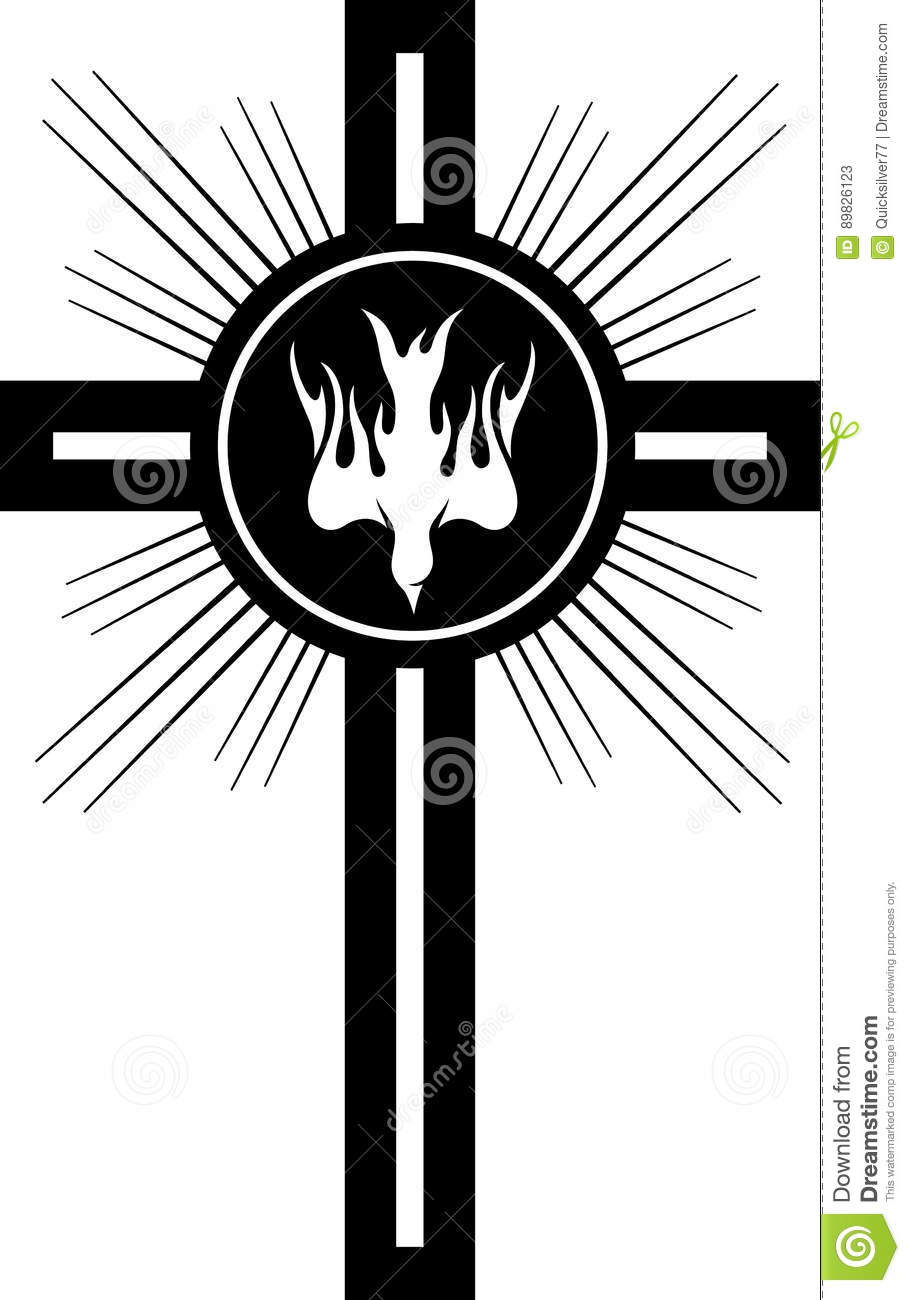 Christian symbol of holy spirit and cross stock vector christian symbol of holy spirit and cross royalty free vector buycottarizona Choice Image