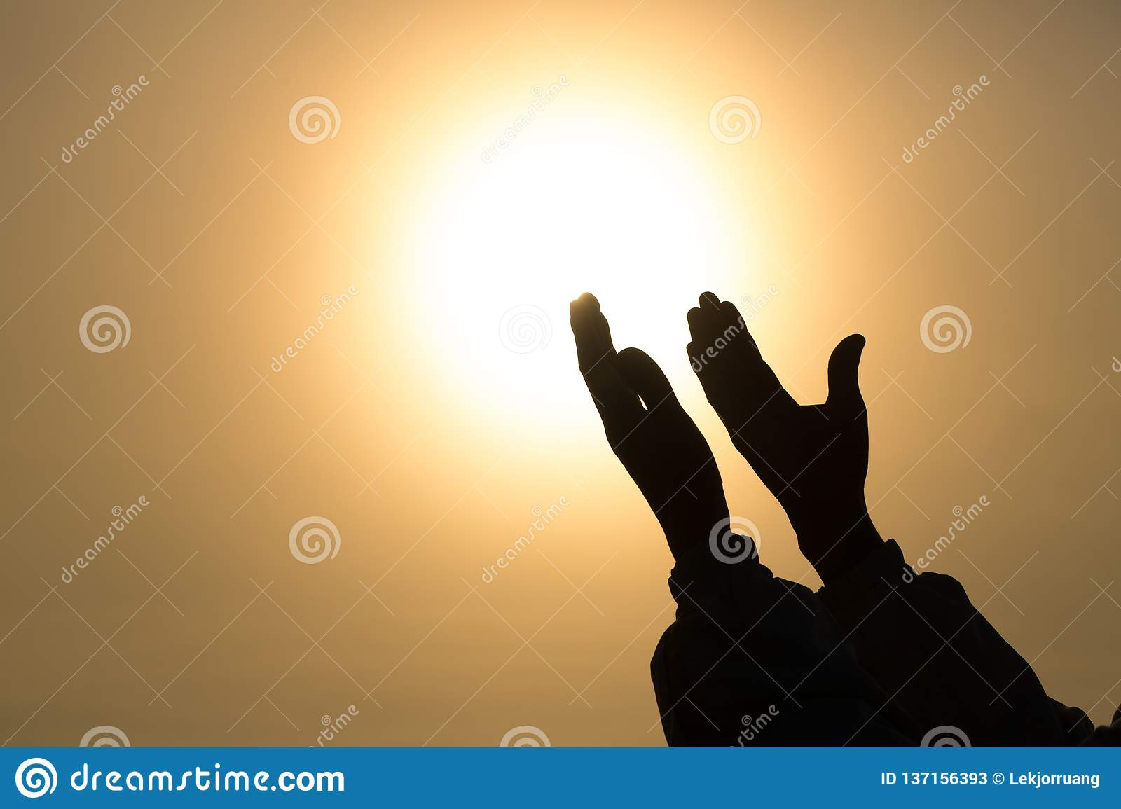Christian woman hands praying to god Woman Pray for god blessing to wishing have a better life. begging for forgiveness and