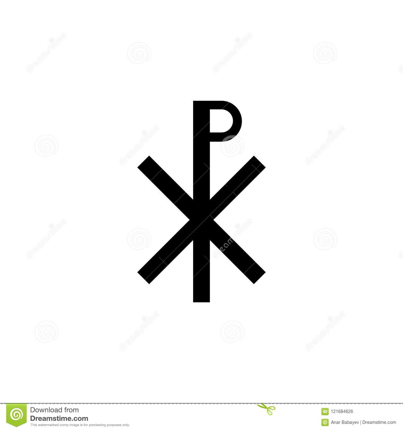 Christianity Chi Rho Sign Icon Element Of Religion Sign Icon For