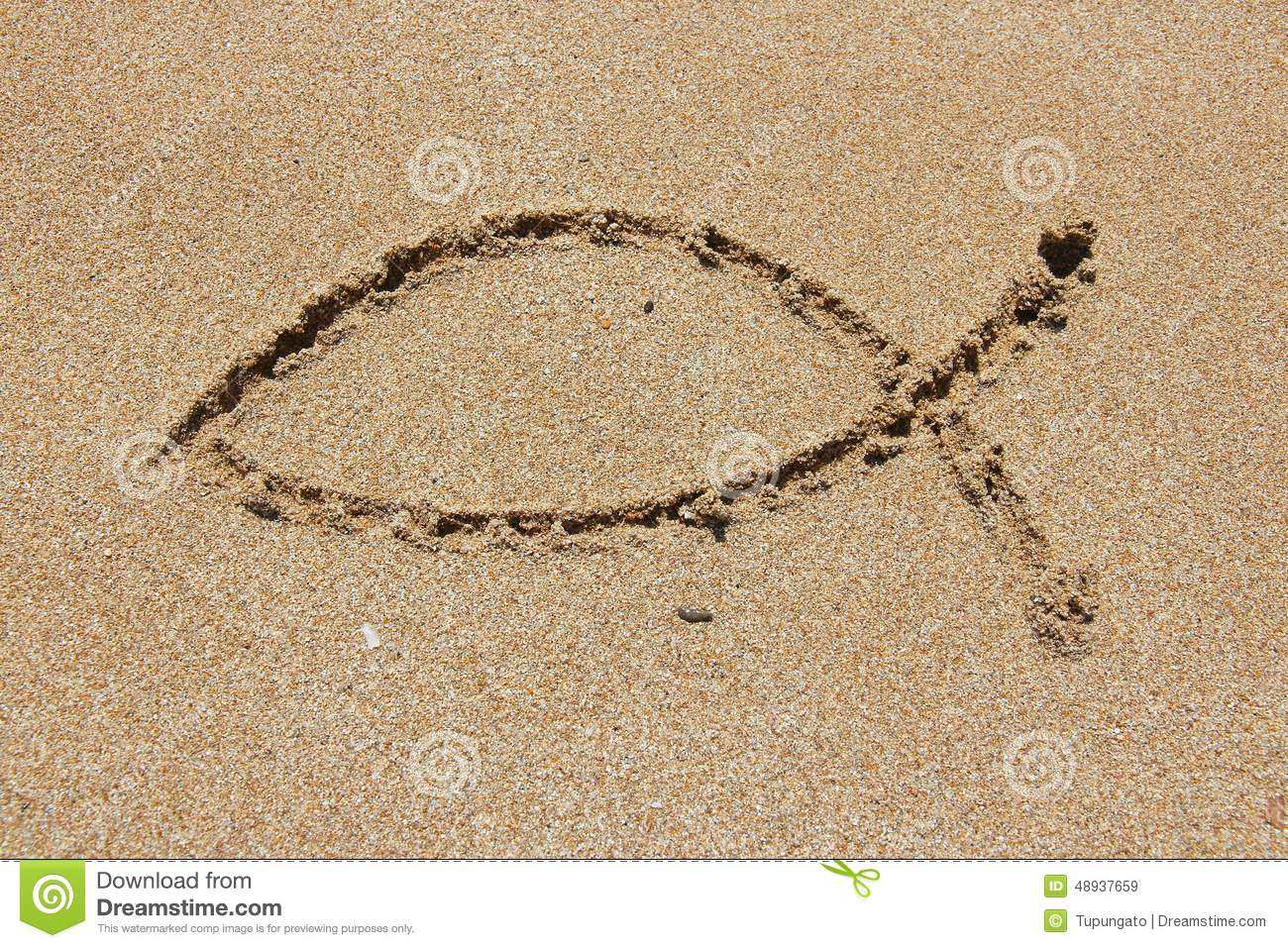 Christian fish stock images 481 photos christianity fish christianity symbol religious shape drawn in sand catholicism fish ichthus biocorpaavc