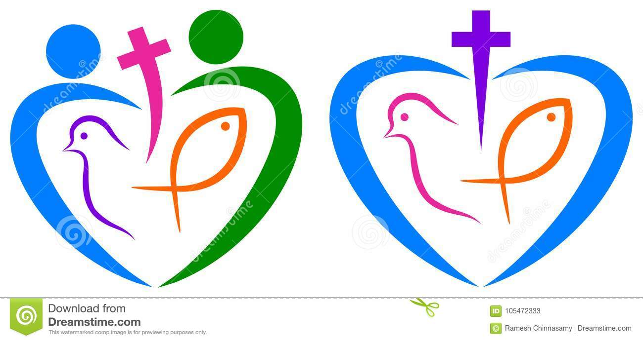 Christianity Love Peaceful And Unity Symbol Stock Vector