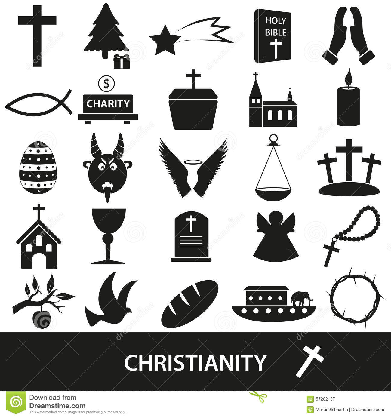 Religion symbols stock vector illustration of moses 40552637 christianity religion symbols vector set of icons royalty free stock photography buycottarizona
