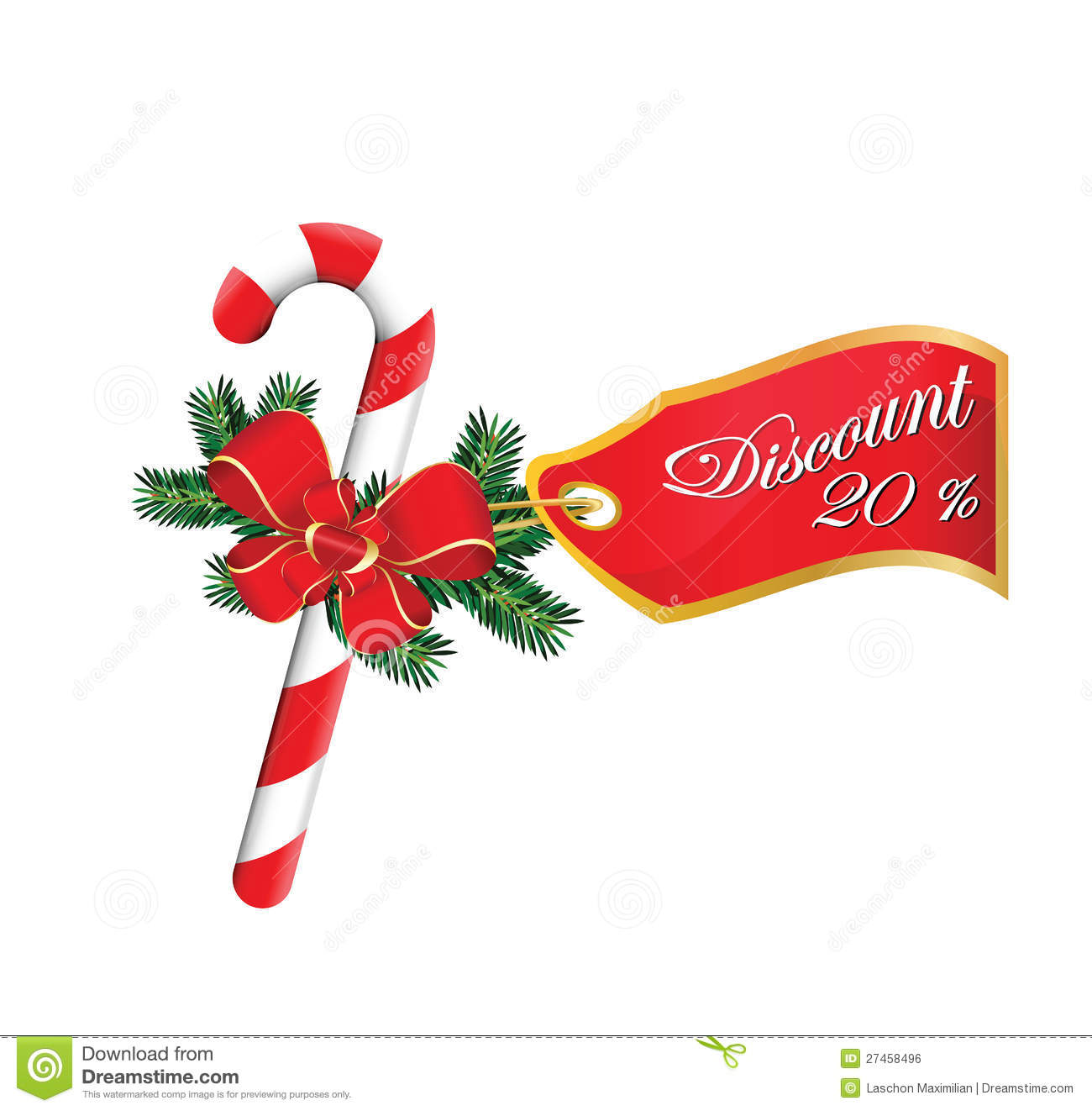 christmas 20 sales discount stock vector illustration of bright