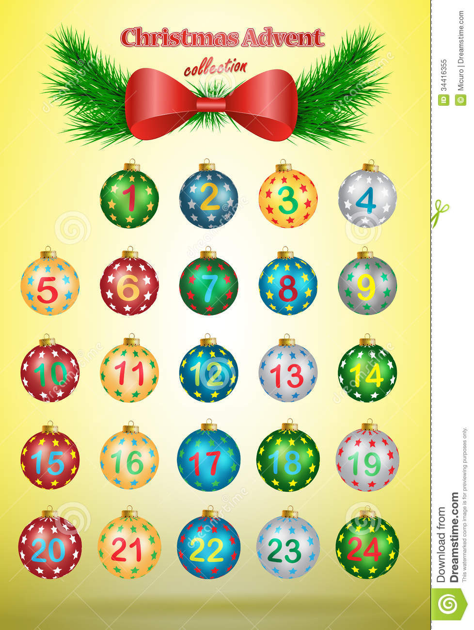 Christmas Advent Calendar Royalty Free Stock Photo - Image: 34416355