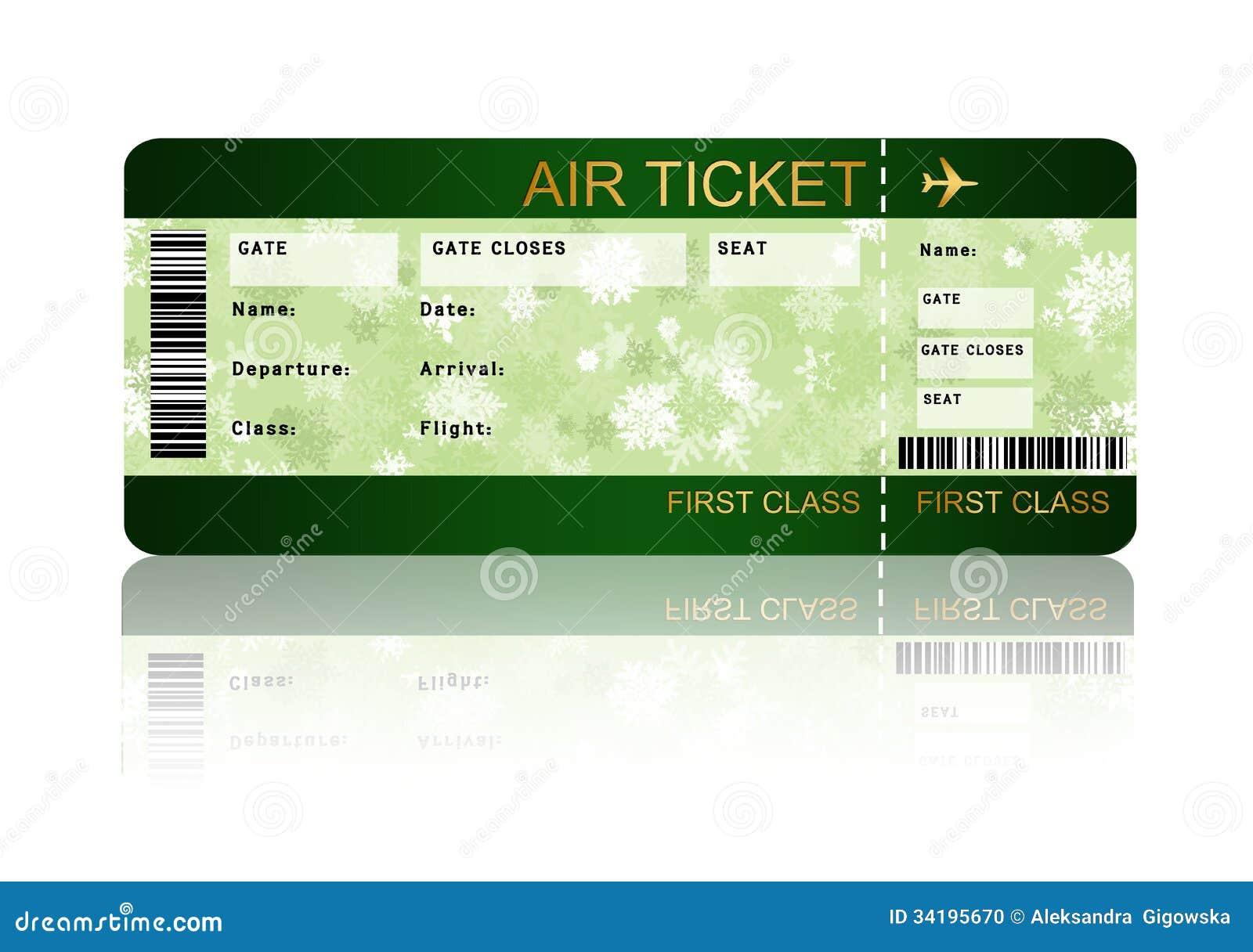 boarding pass ticket template