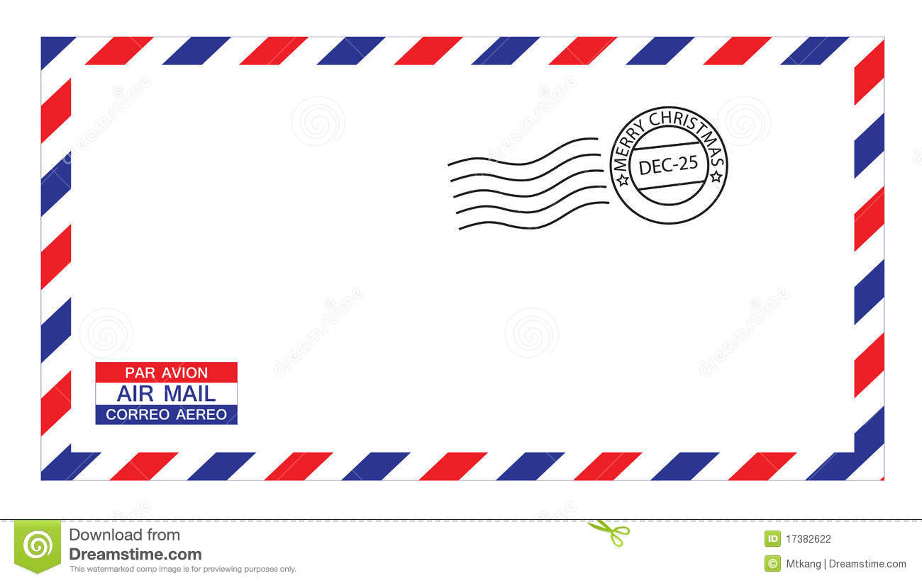 Nice Download Christmas Airmail Envelope Stock Vector. Illustration Of Christmas    17382622