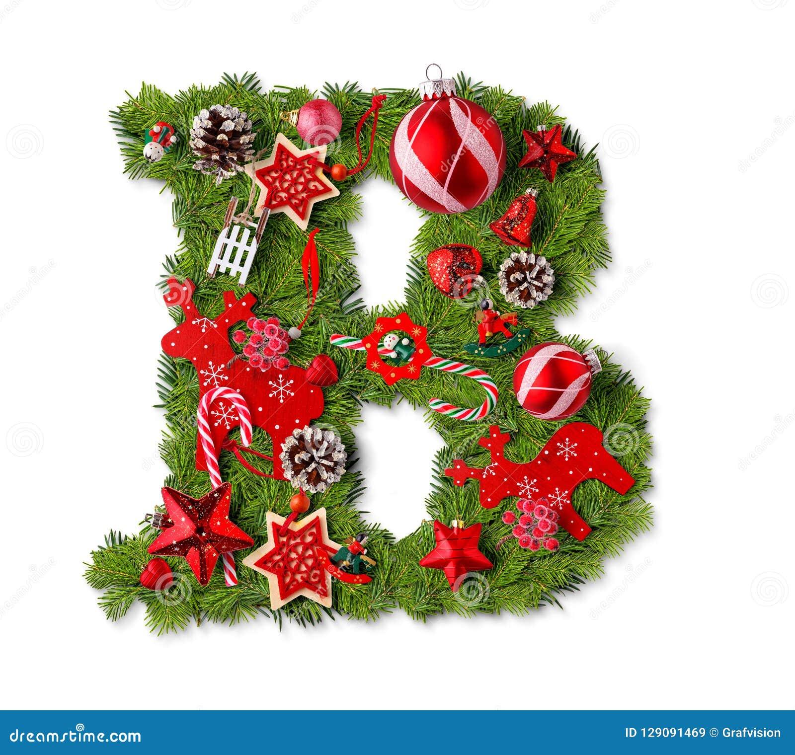 Christmas Alphabet.Christmas Alphabet Letter B Stock Image Image Of
