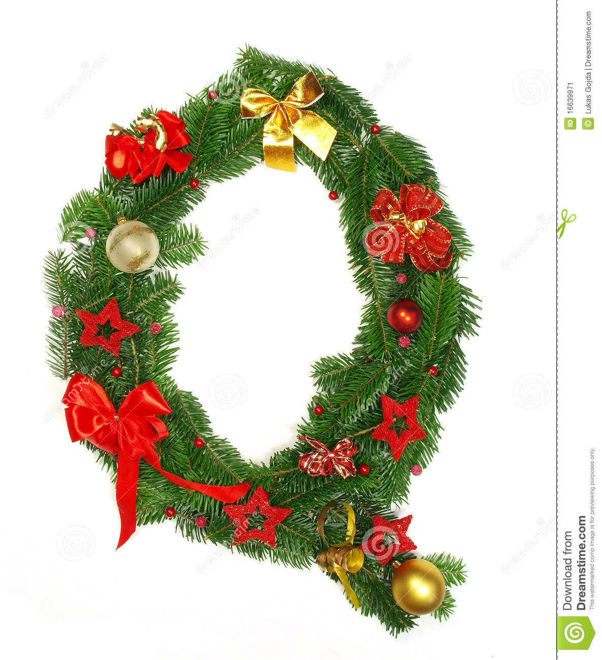 Christmas alphabet letter q stock image image 16639971 for Where to go for a white christmas in usa