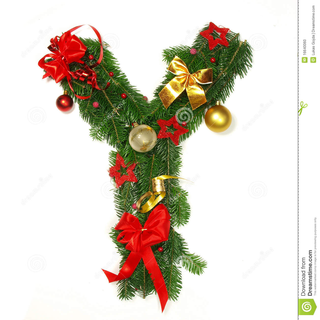 Merry Christmas Letter Y.Christmas Alphabet Letter Y Stock Photo Image Of Botanical