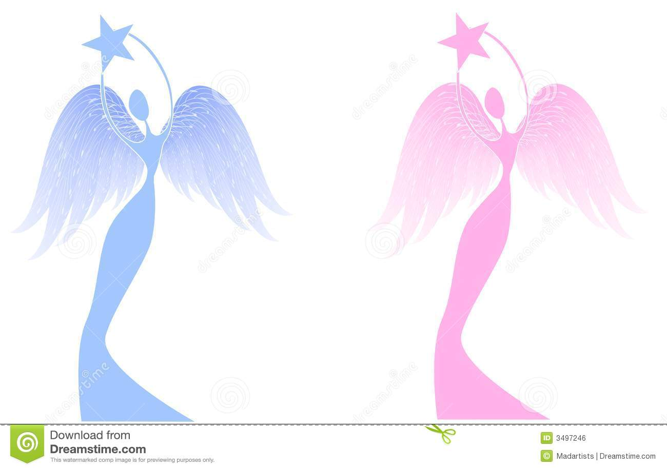 Christmas Angels Images Clip Art.Christmas Angel Holding Star Stock Illustration