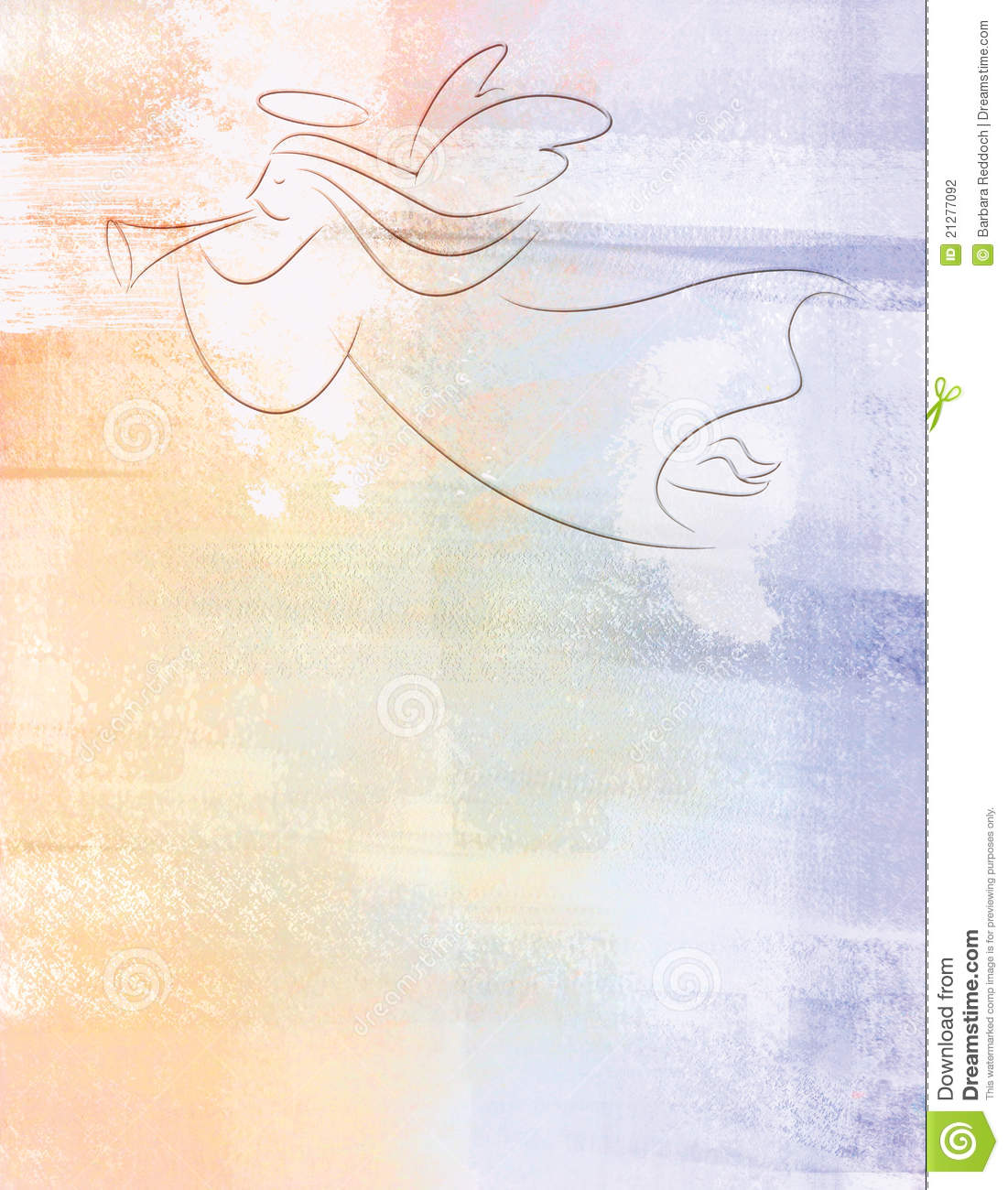 Christmas Angel Illustration Background Stock Photography