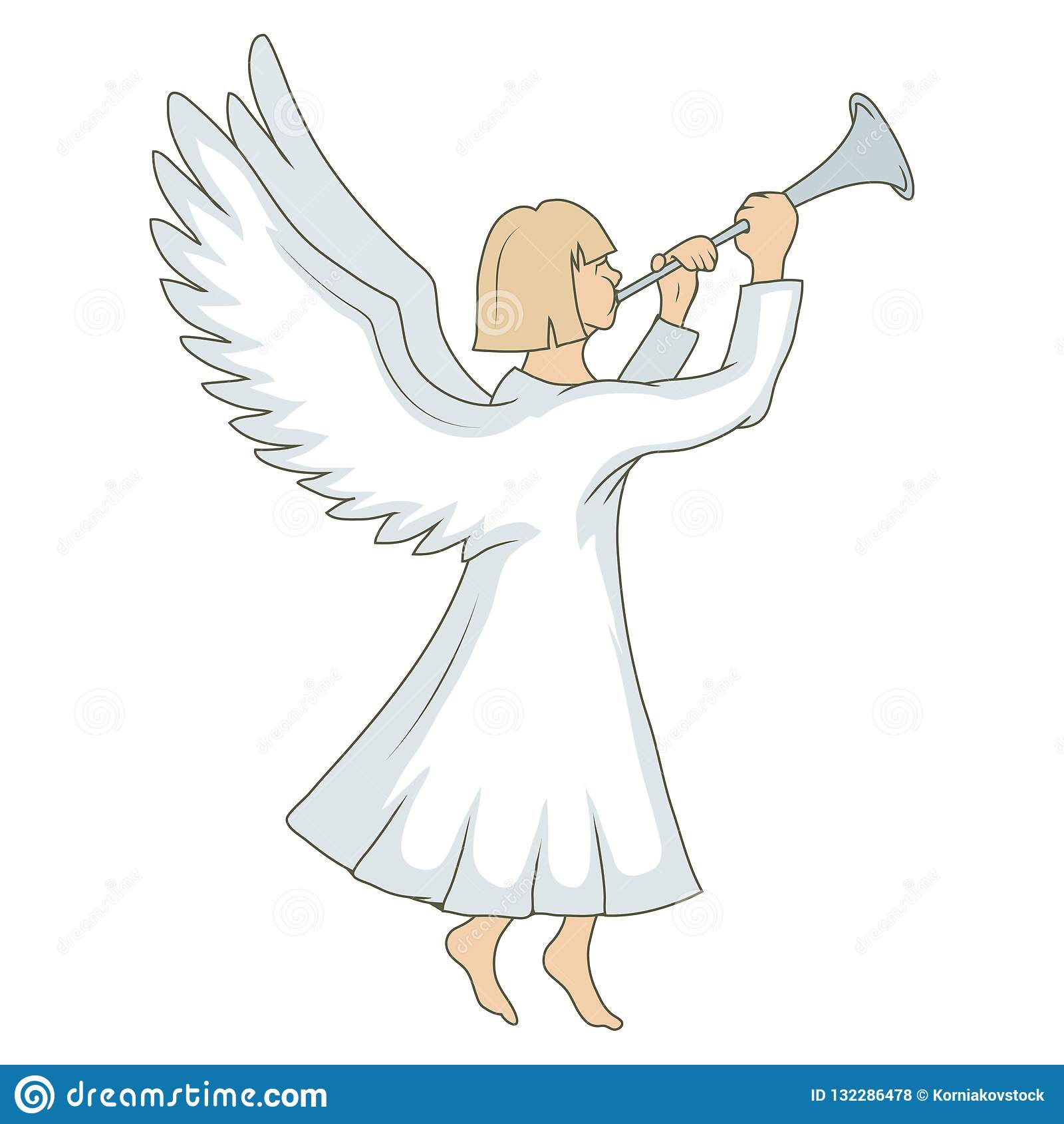 Christmas Angel.Christmas Angel On White Background New Year S Holiday
