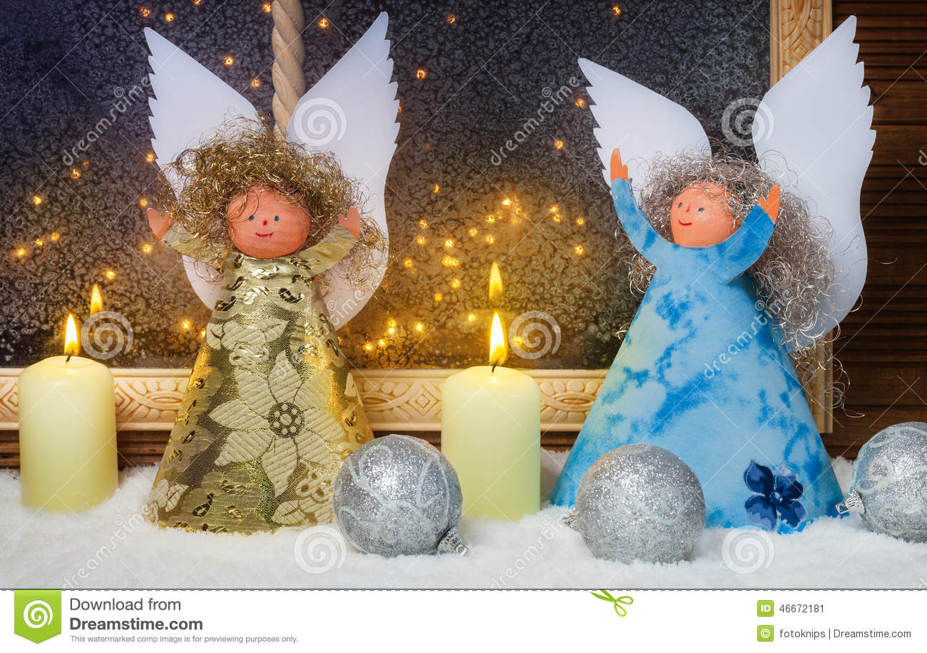 angel angels baubles candles christmas decorations - Angel Decorations
