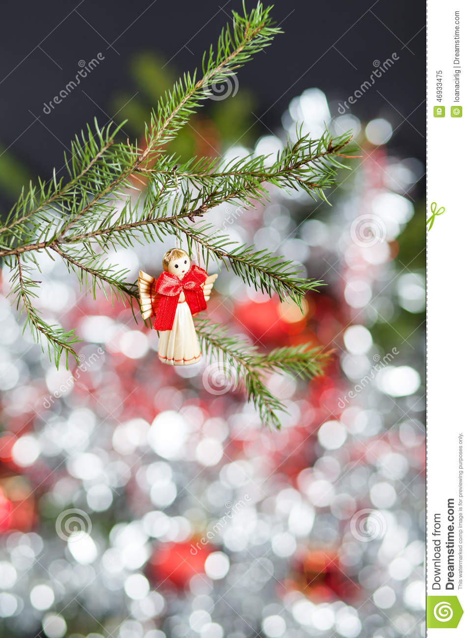 Christmas angel stock photo image 46933475 for Angel christmas tree decoration