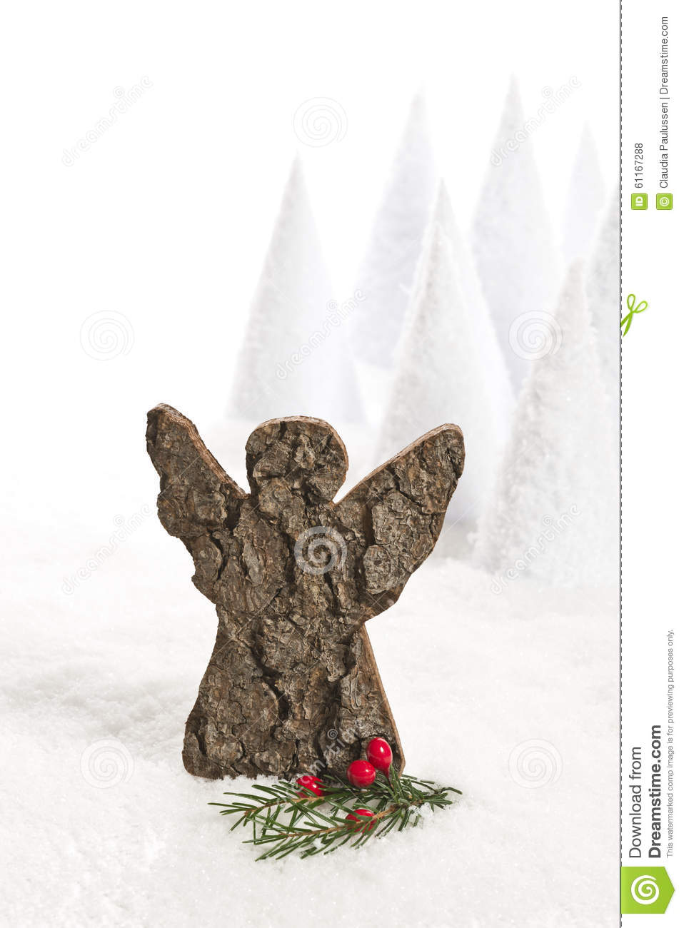 Christmas angle stock photo image 61167288 for Artificial snow decoration