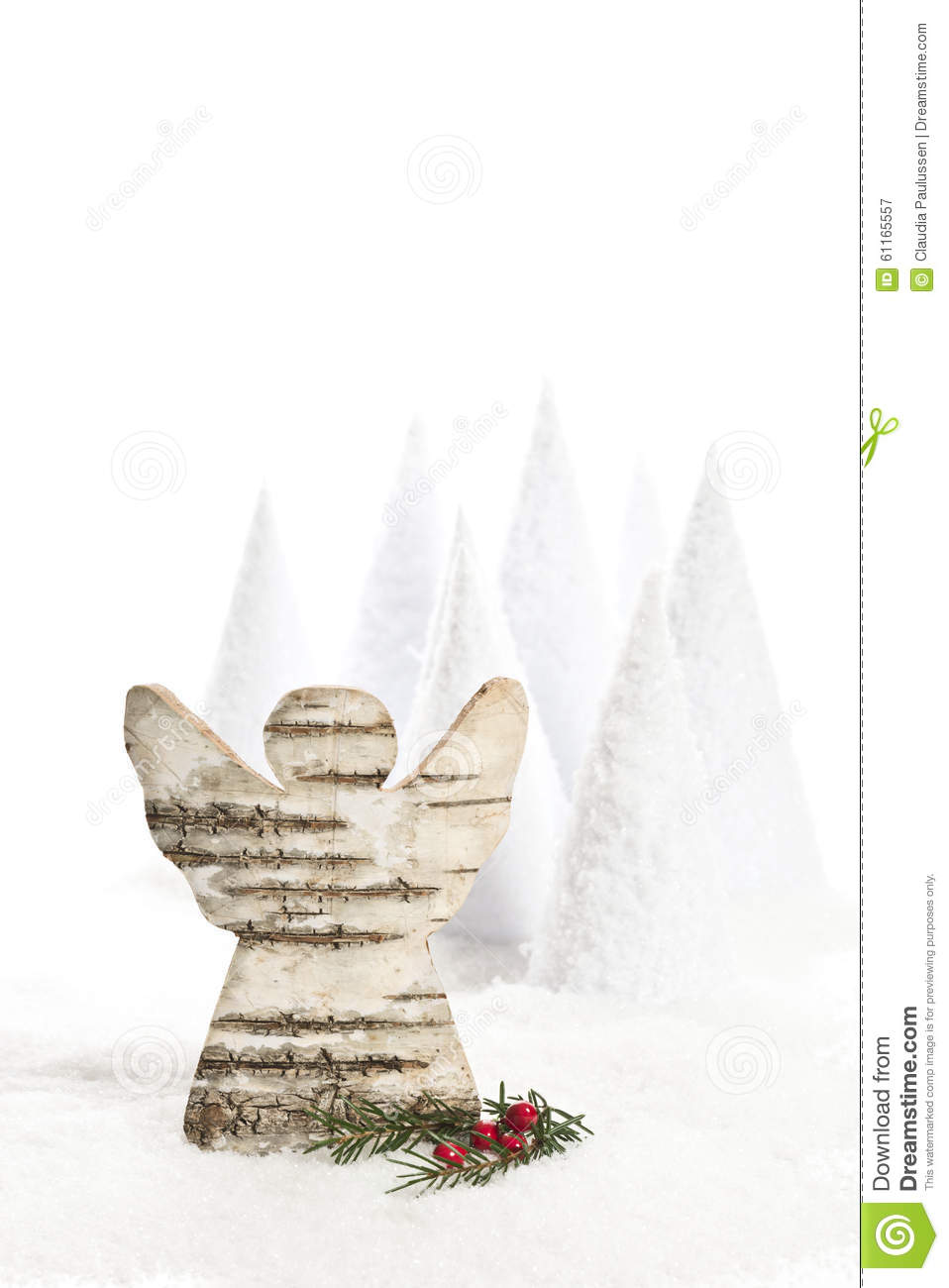 Christmas angle stock photo image 61165557 for Artificial snow decoration