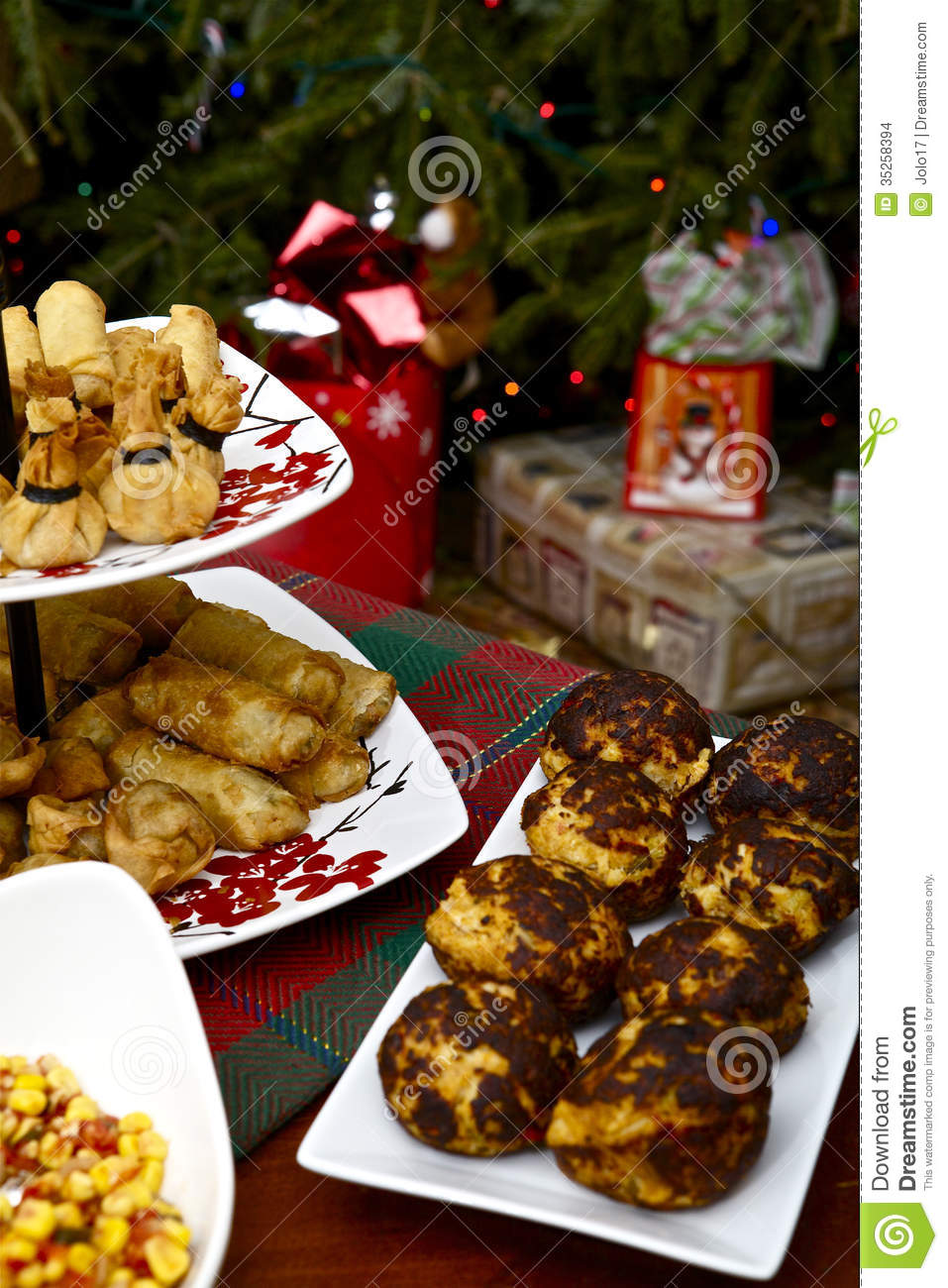 Christmas Appetizer Stock Images Image 35258394