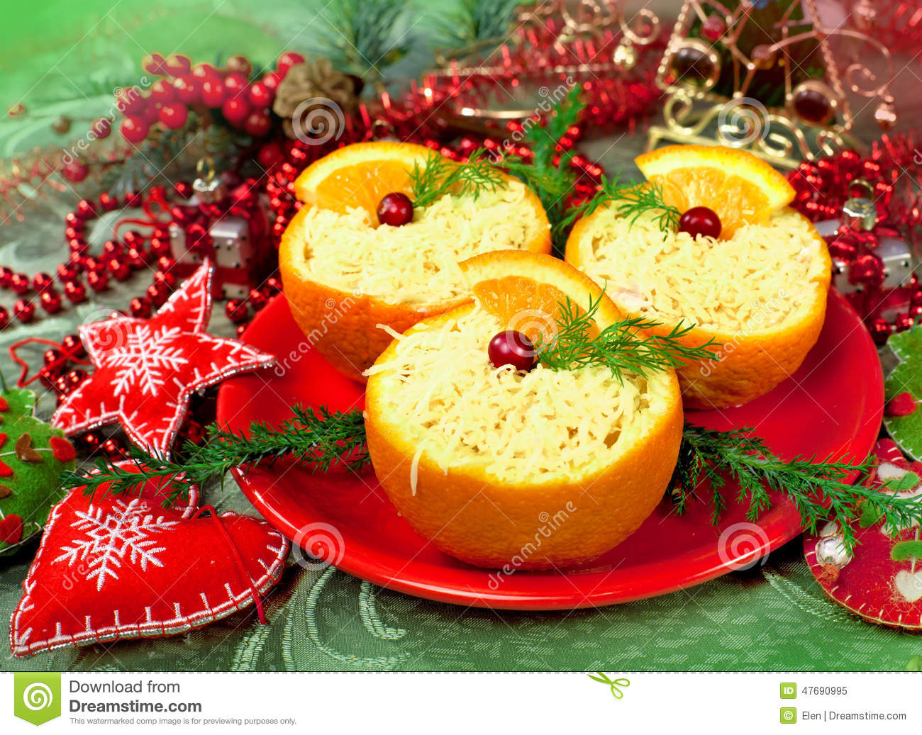 Christmas appetizer for Appetizer decoration