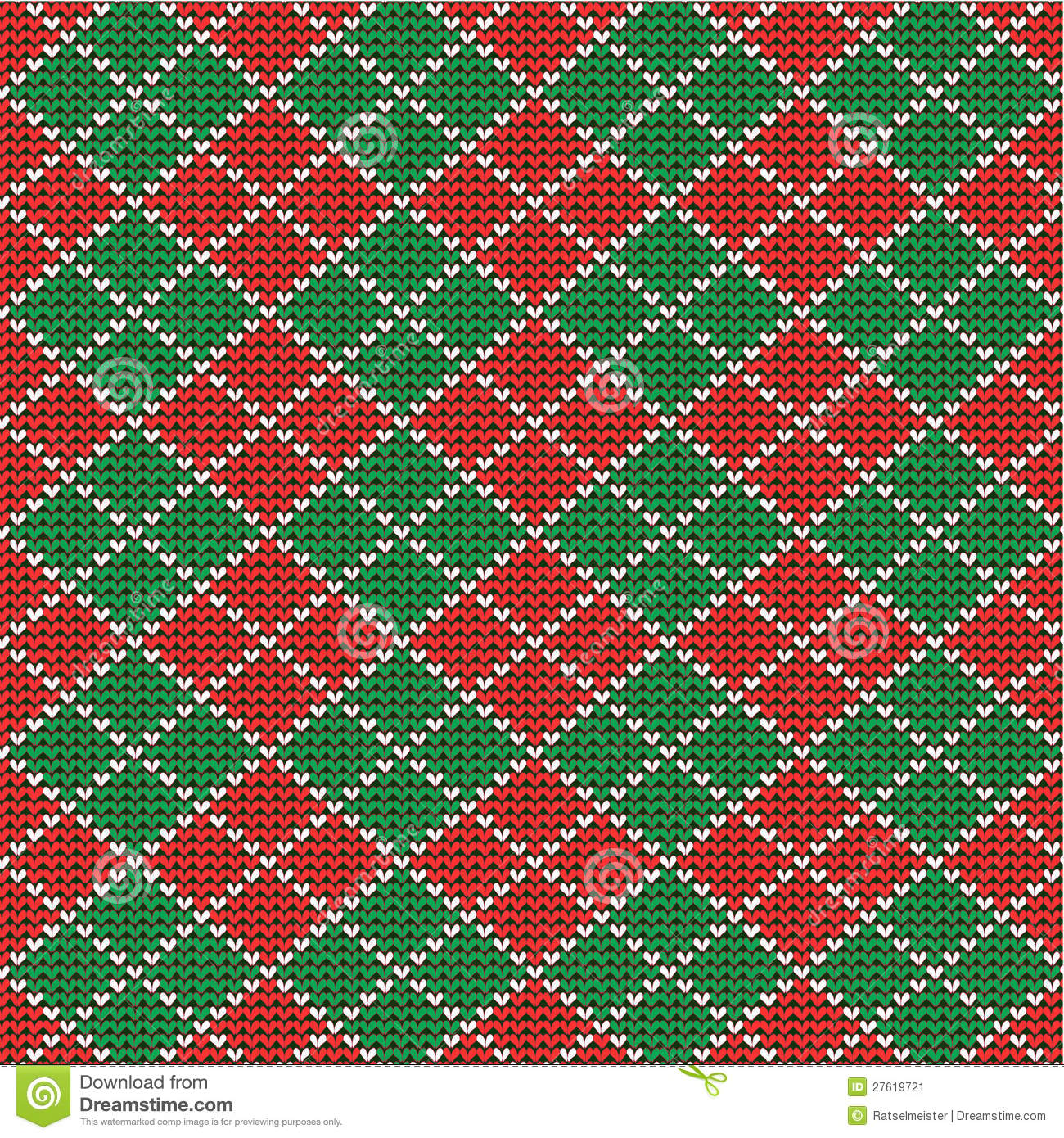 Christmas argyle background, seamless pattern incl