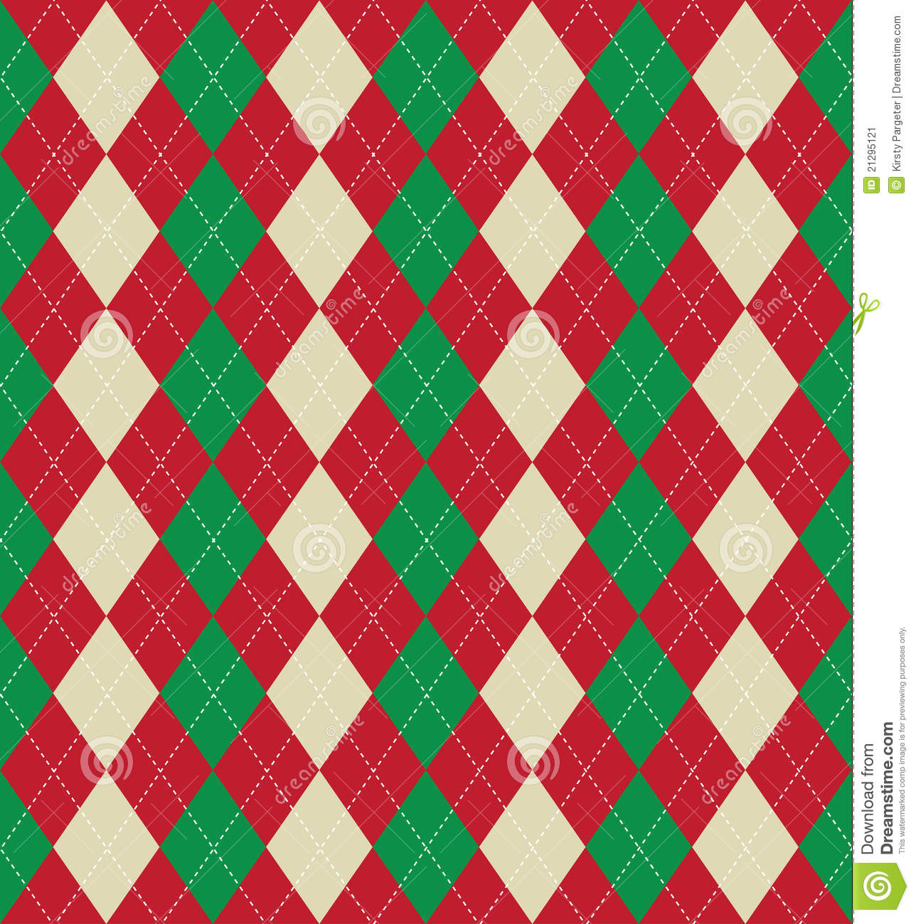 ... tiled background of an argyle style pattern using Christmas colours