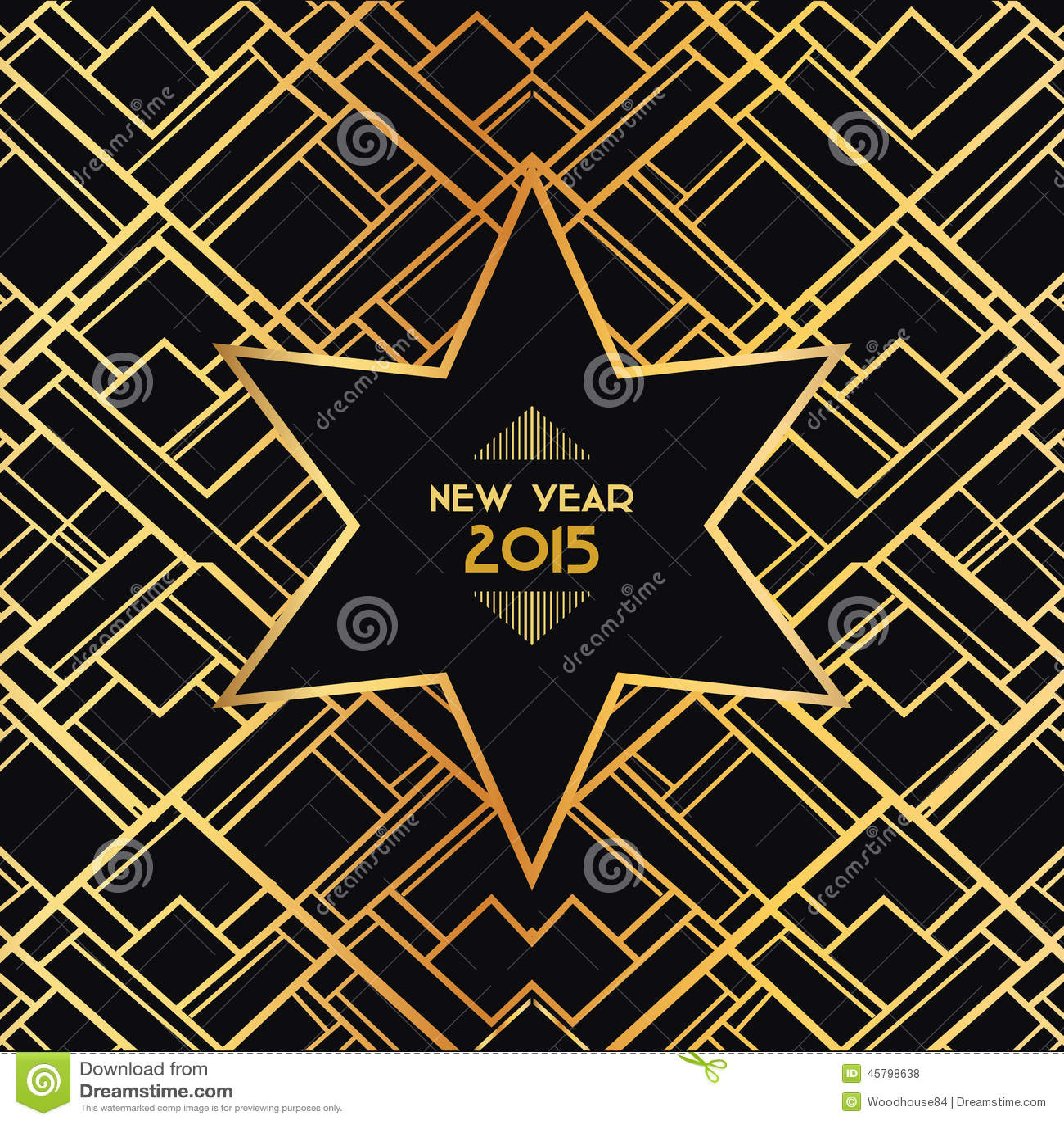 Christmas Art Deco Card Stock Vector Image 45798638