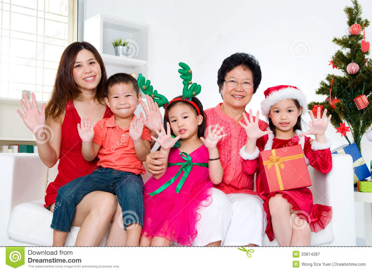 Asian christmas picture