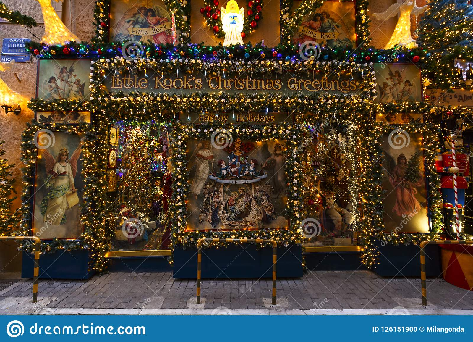 Christmas In Athens Editorial Image Image Of Psyri 126151900