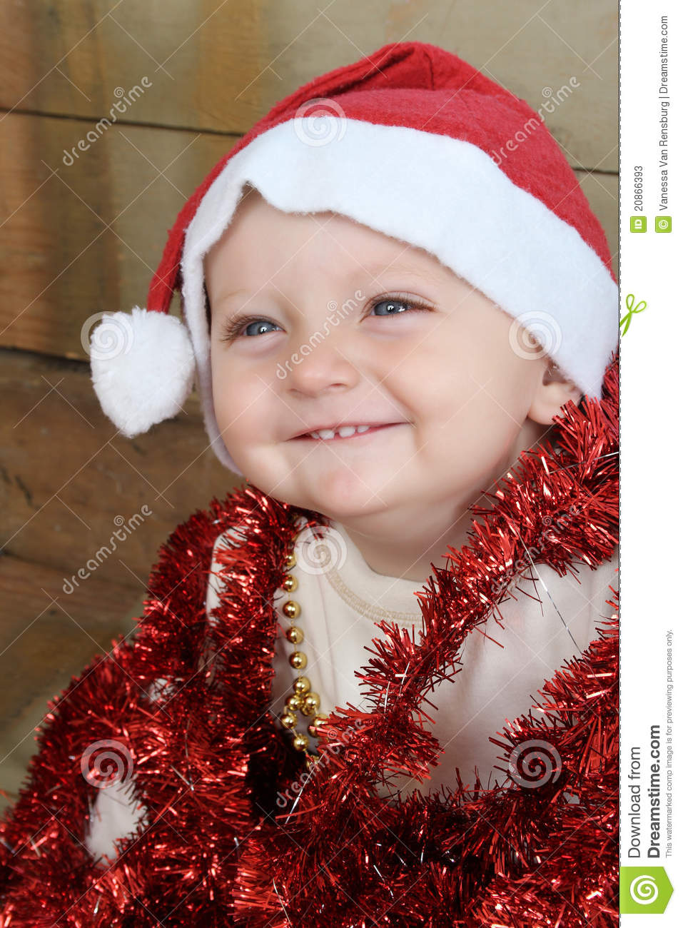 Christmas Baby Stock Image Image Of Model Decorations