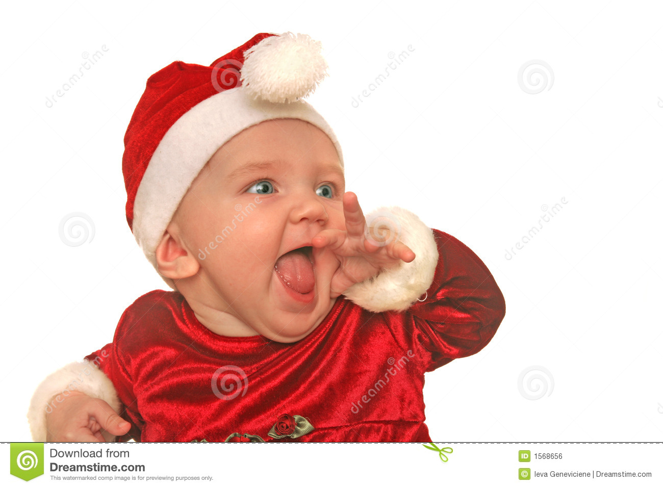 christmas baby in awe royalty free stock image   image 1568656