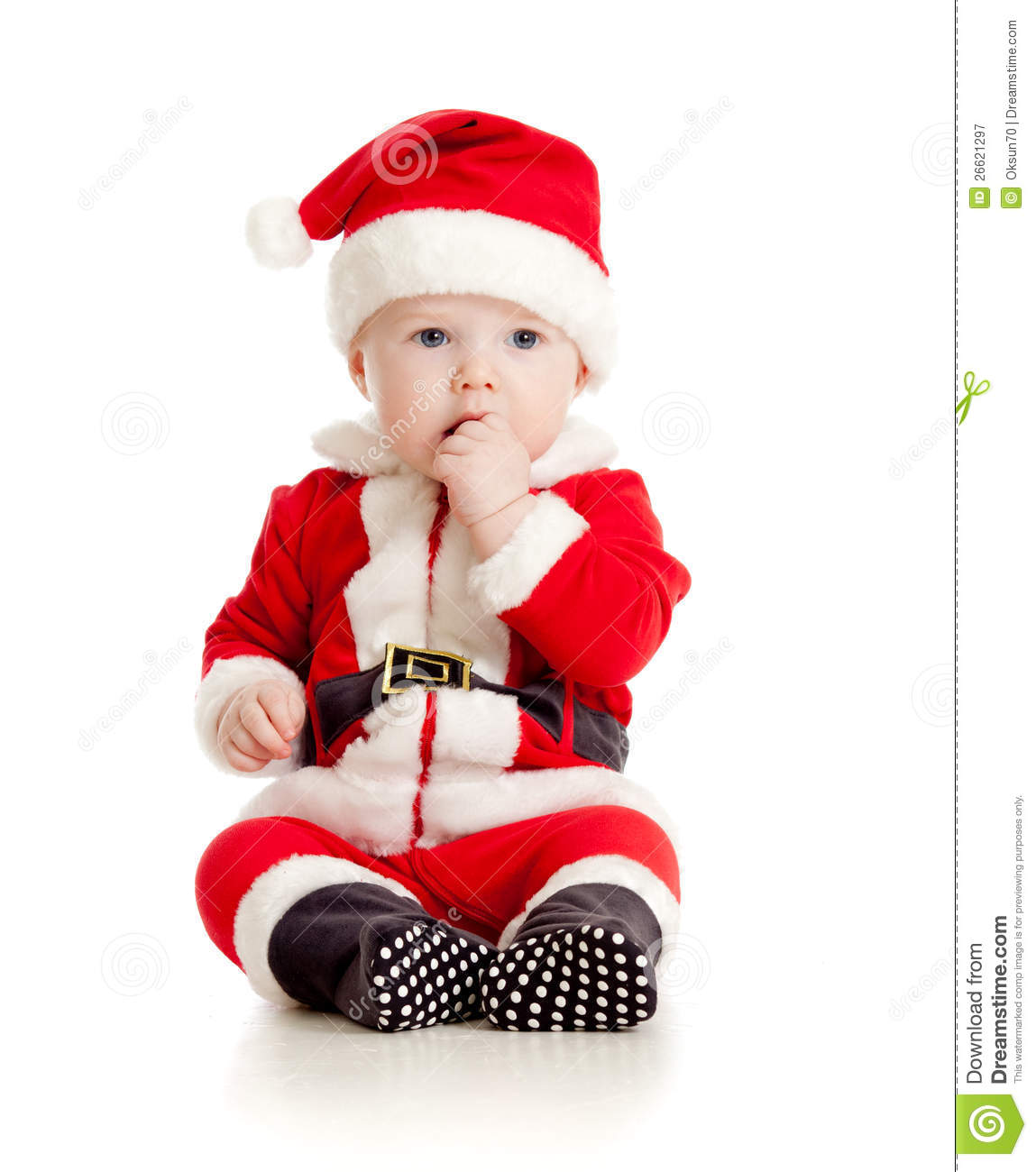 Christmas Baby Boy In Santa Claus Clothes Stock Image  Image: 26621297