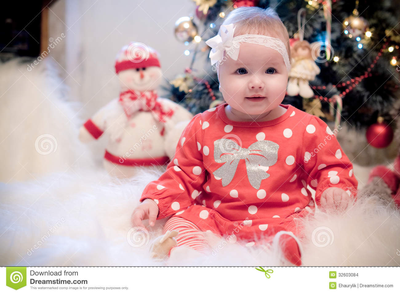baby girl christmas tree dress