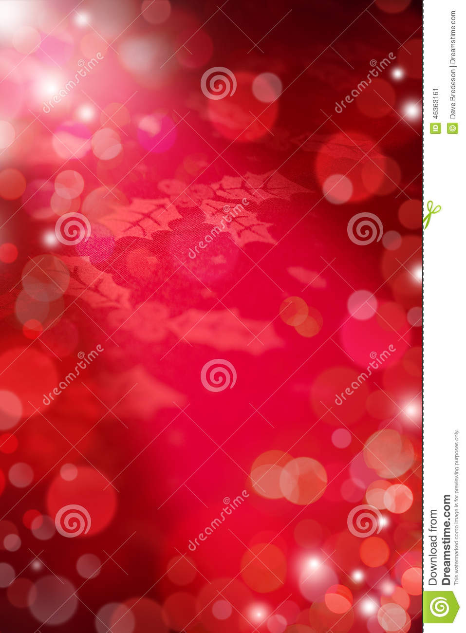Christmas Red Lights Background