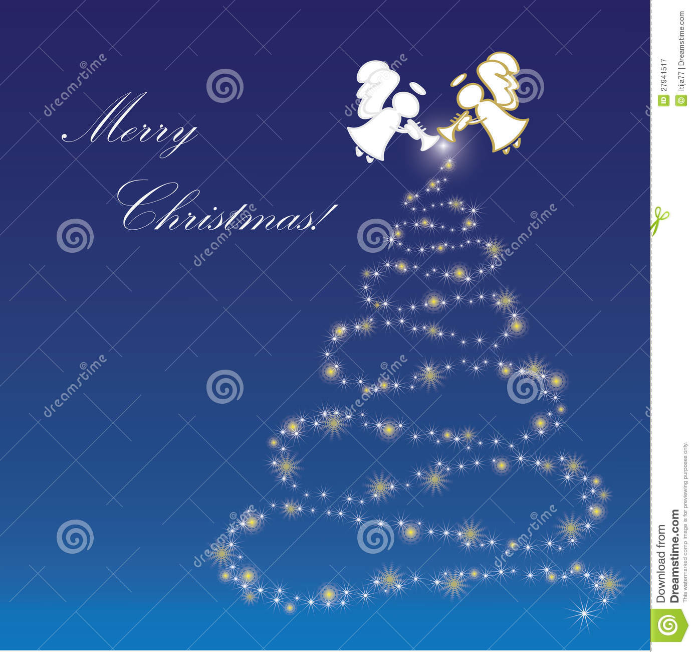 Angels Christmas Background.Christmas Background With Angels Stock Vector Illustration