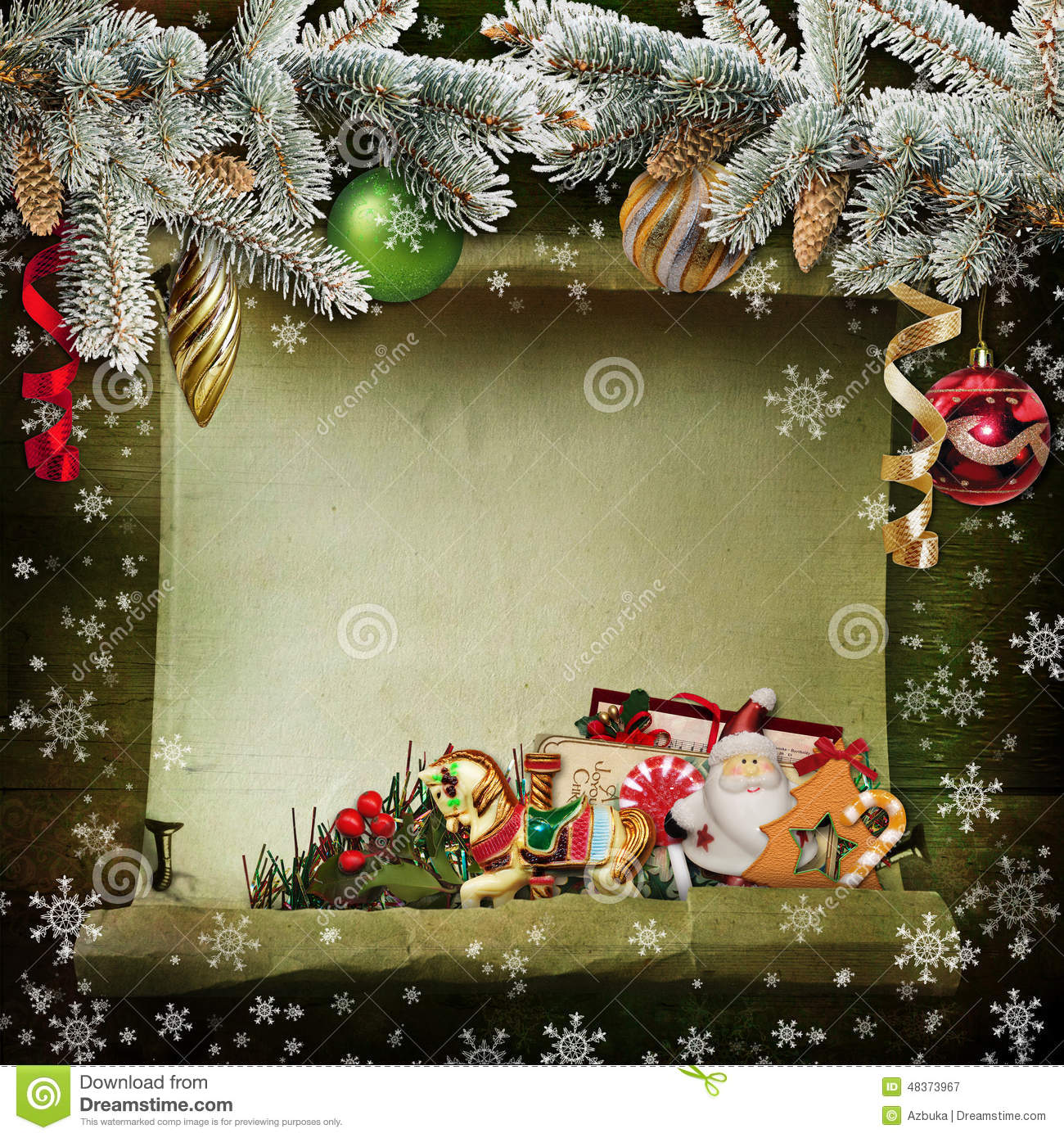 Beautiful vintage background with christmas decorations for Tasteful christmas decorations