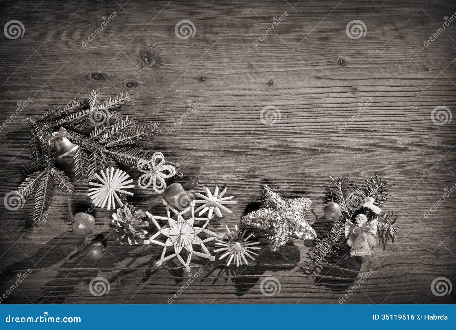 Christmas Background Black And White Stock Photo Image Of
