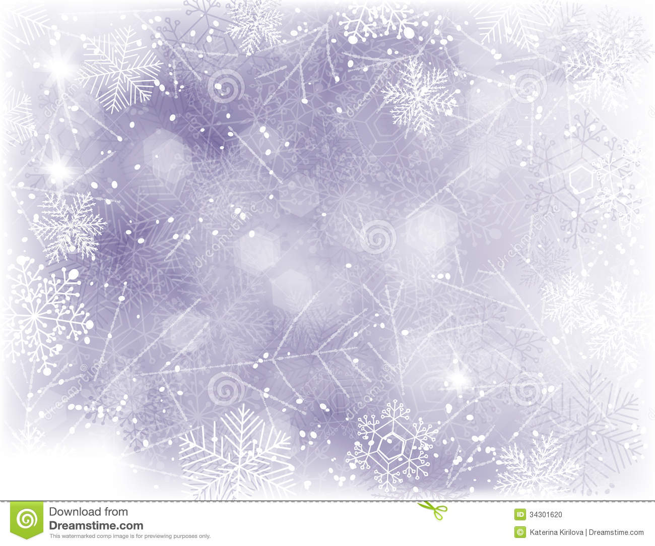 ... background with falling snow and lights and grunge frame of snowflakes