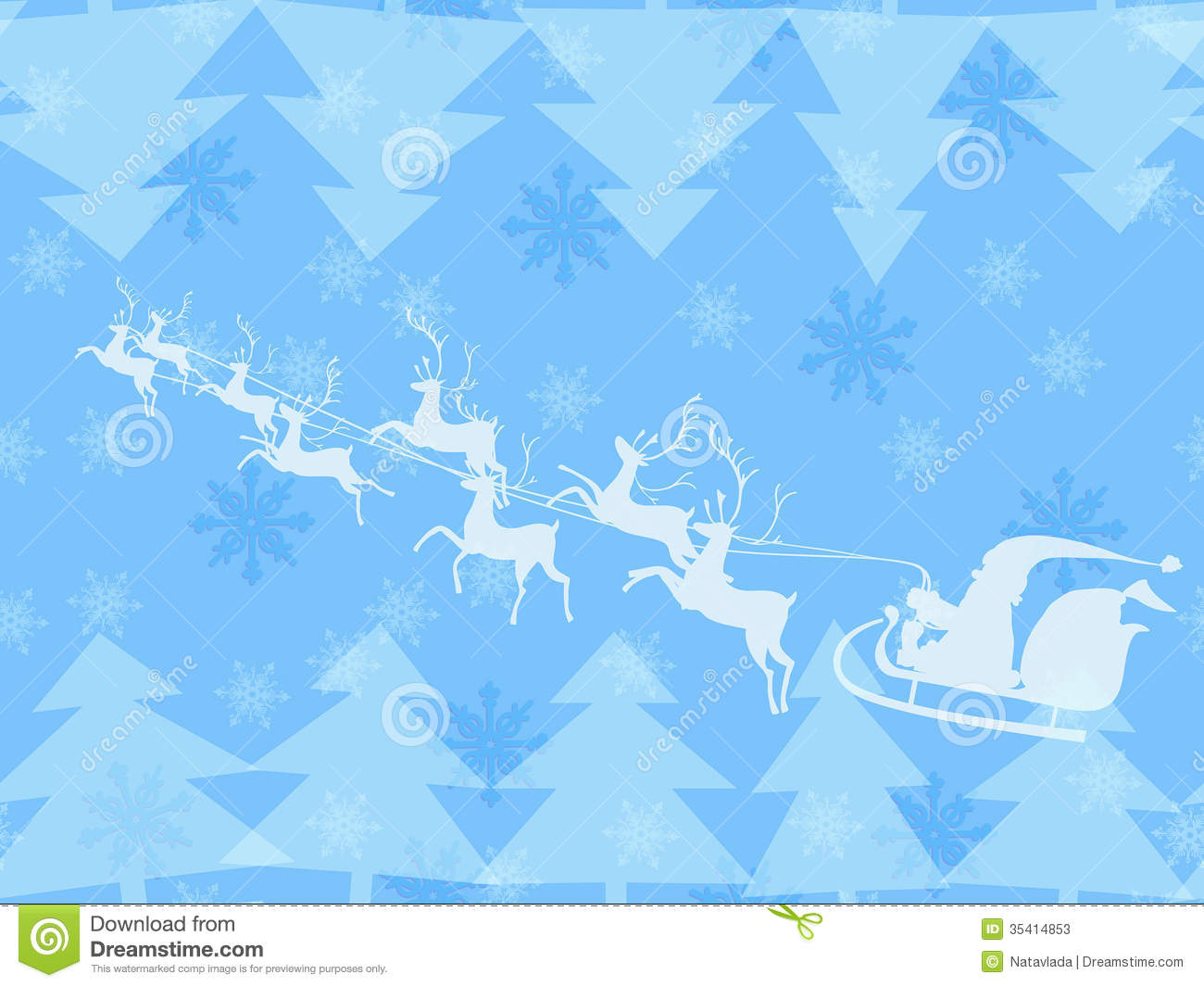 Christmas Background In Blue Pastel Stock Vector