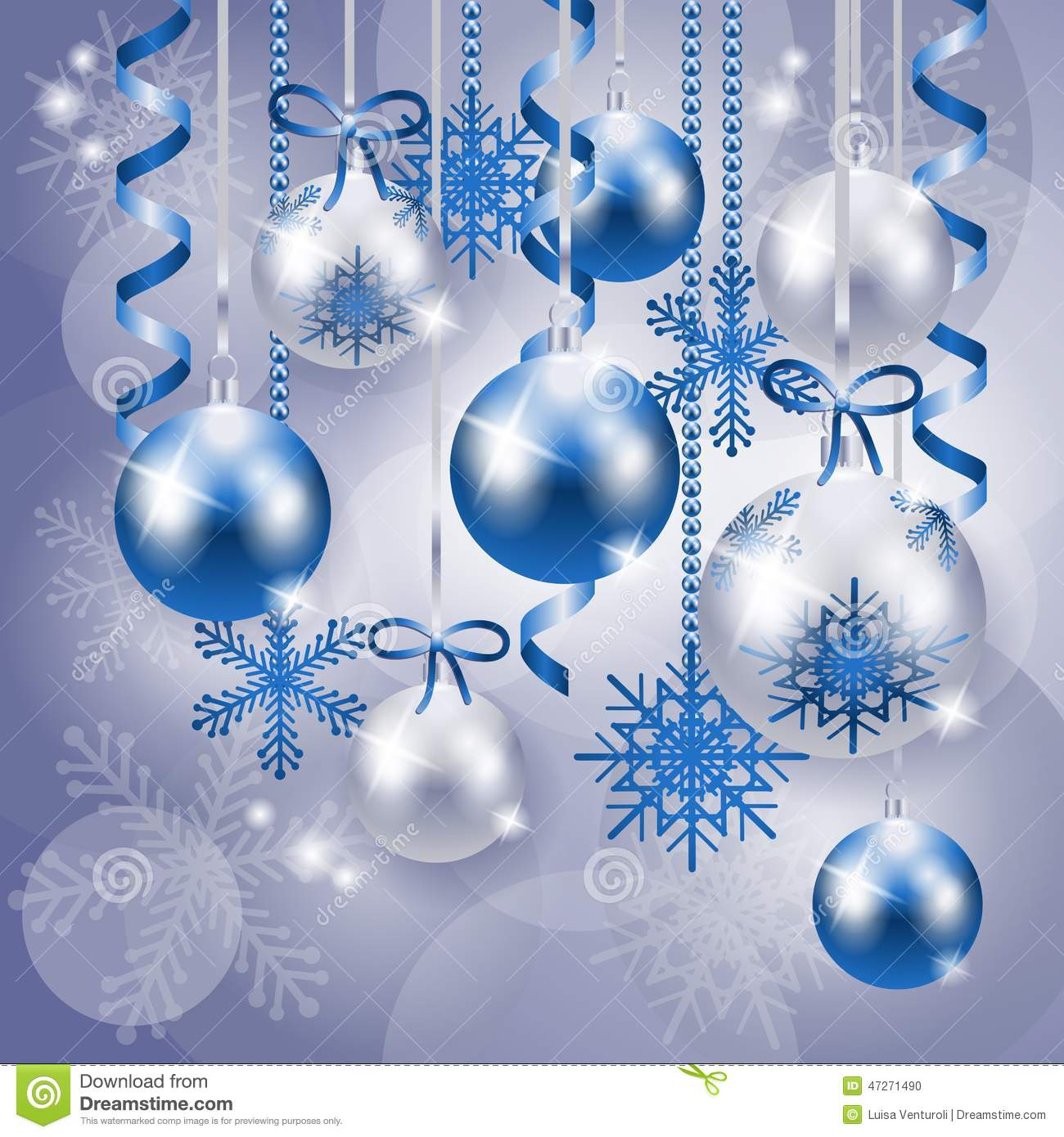 the gallery for gt blue and silver christmas background