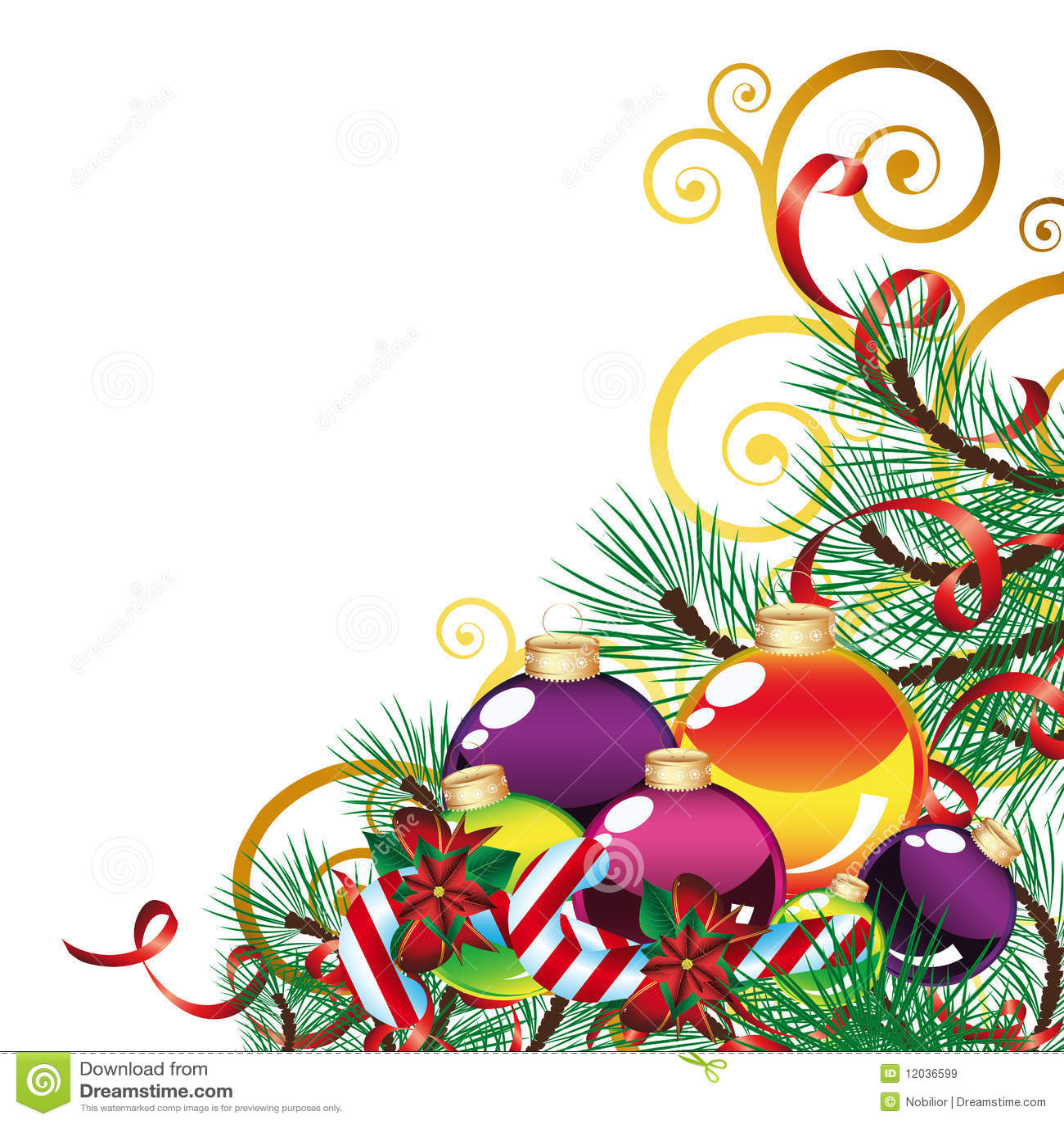 Christmas background with christmas decor royalty free for Christmas mural