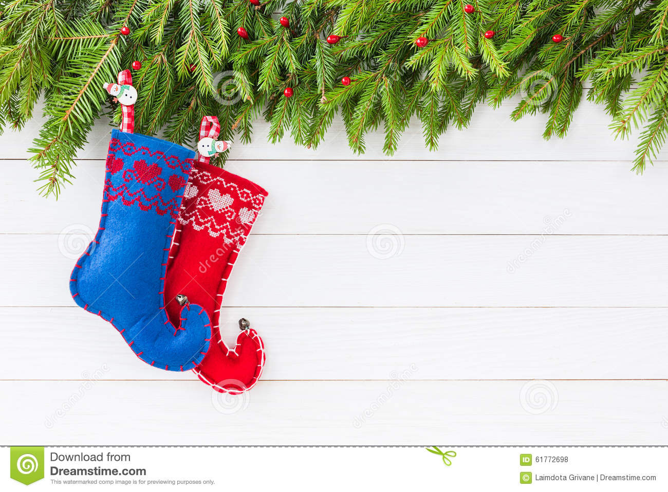Christmas Background Christmas Fir Tree With Decoration