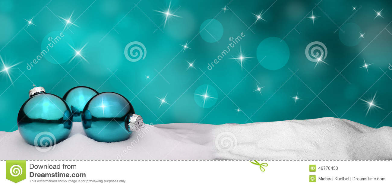 Background Christmas Ornaments Snow Turquoise