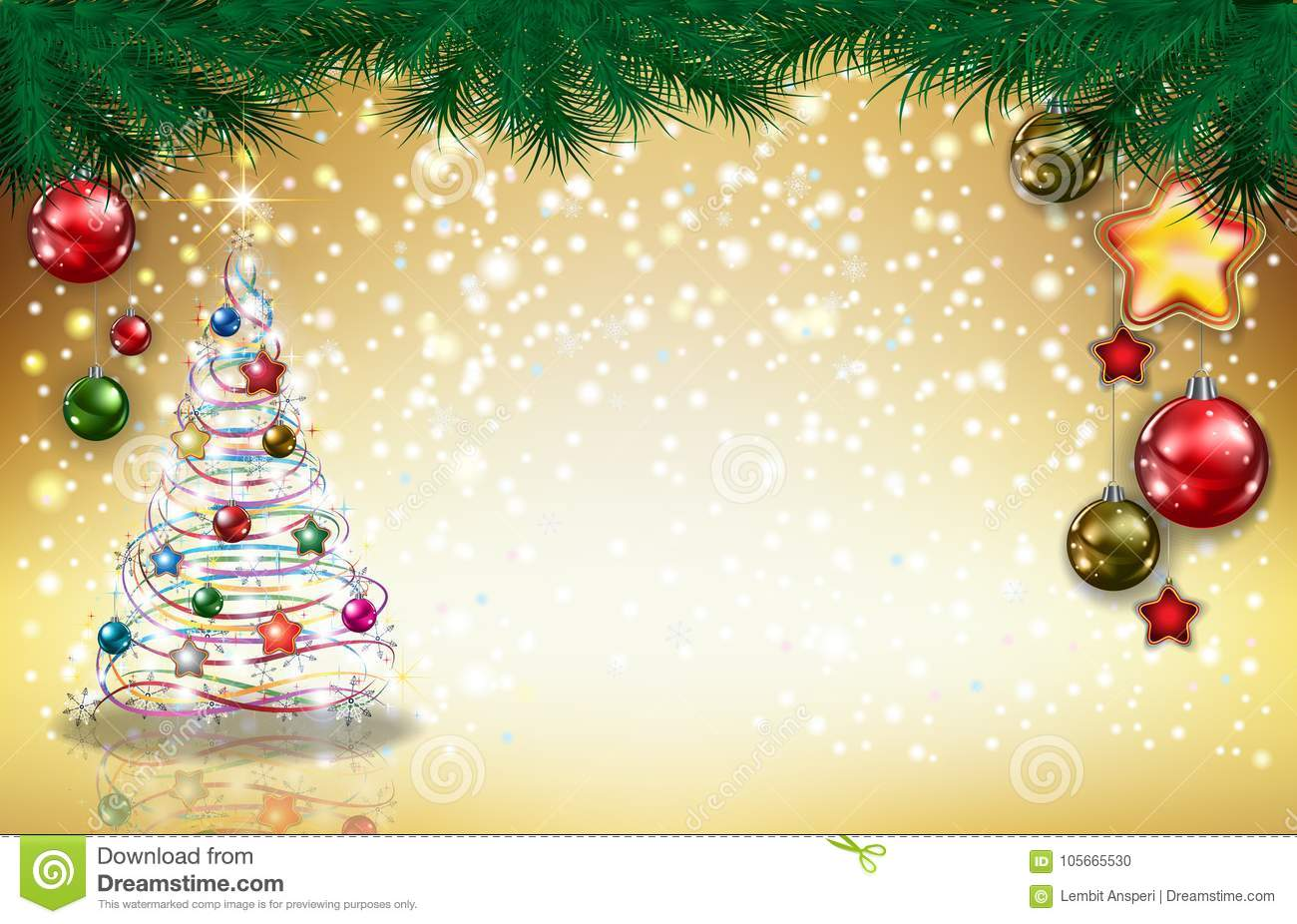 Christmas Background Stock Vector Illustration Of Artistic 105665530