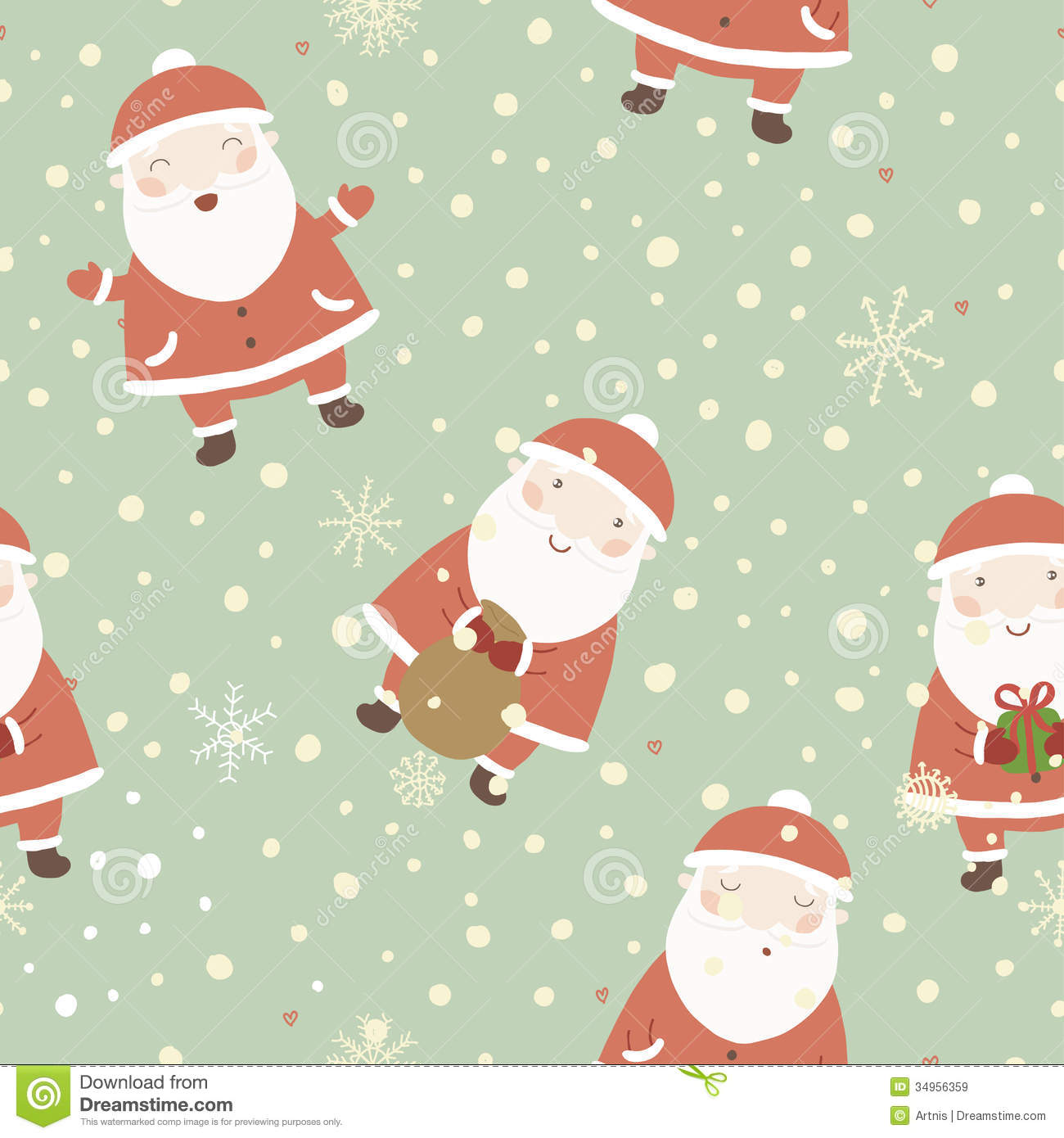christmas background with cute santa