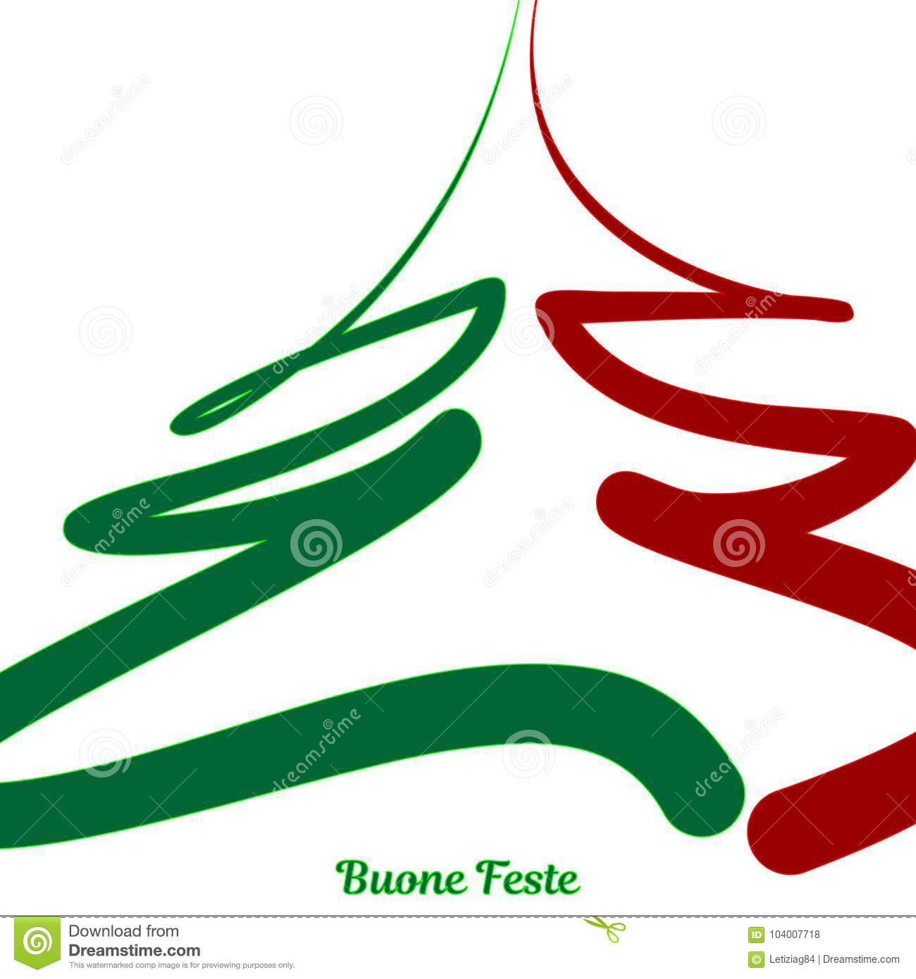 Christmas Background With Decorations - Italy Stock Illustration ...