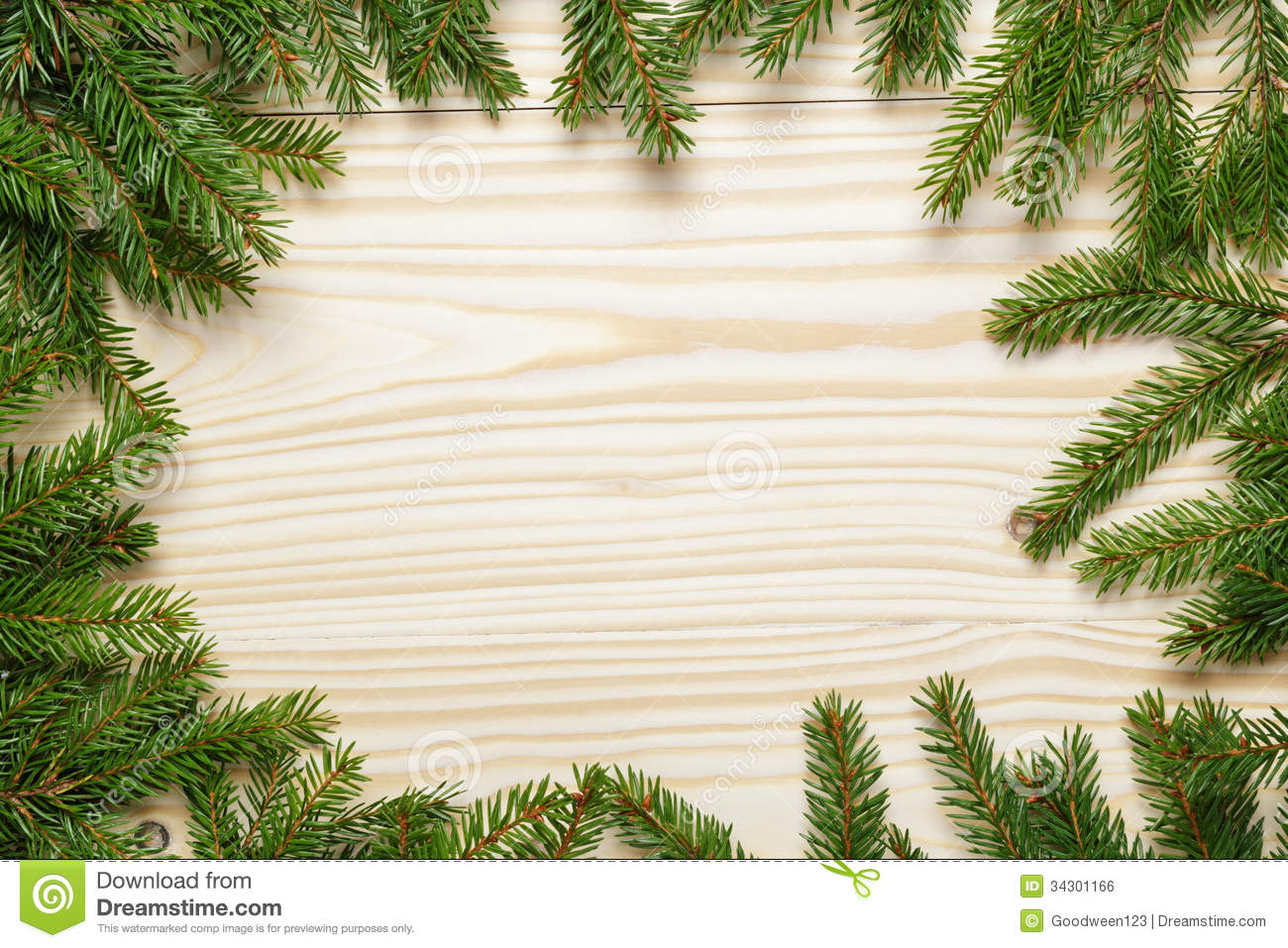 Christmas Background Images Free.Christmas Background From Fir Twigs On Wooden Table Stock