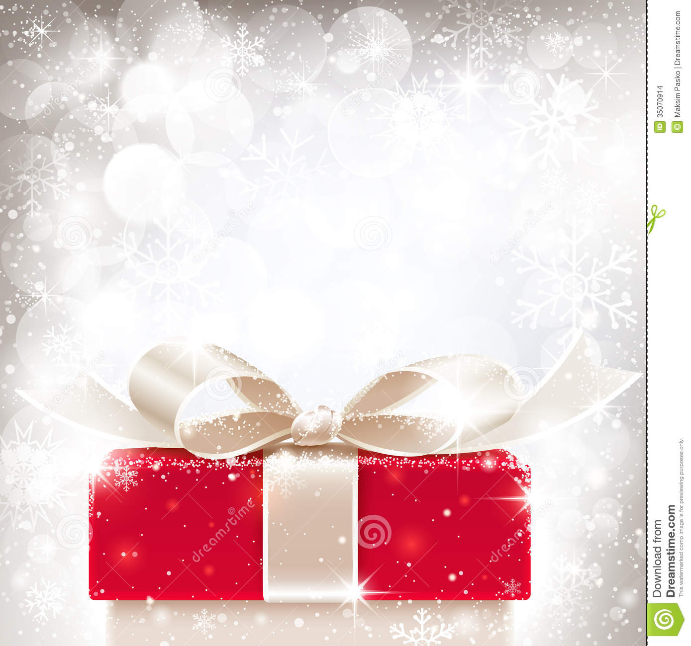 christmas background with gift stock vector