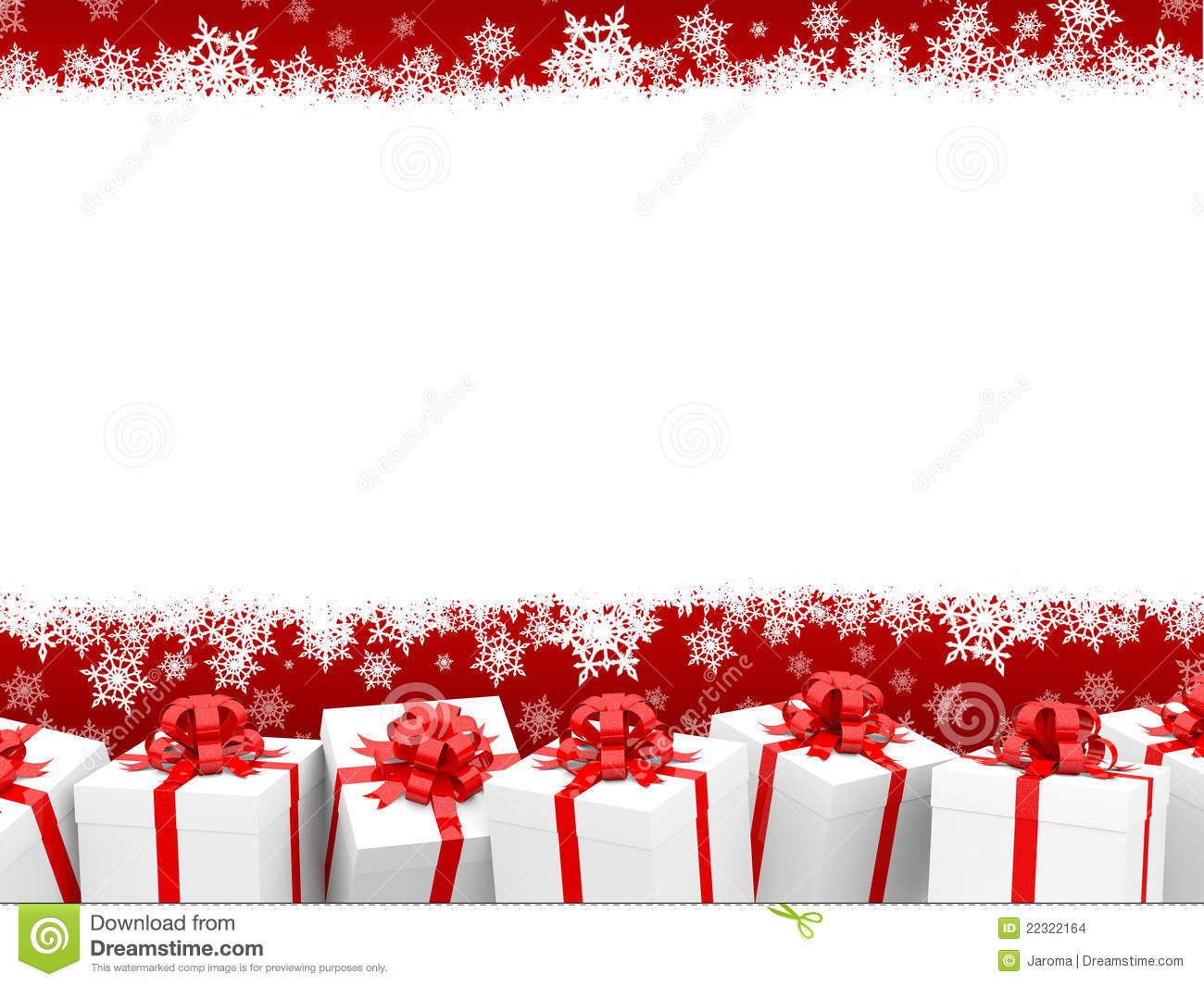 Christmas Background With Giftboxes Stock Illustration