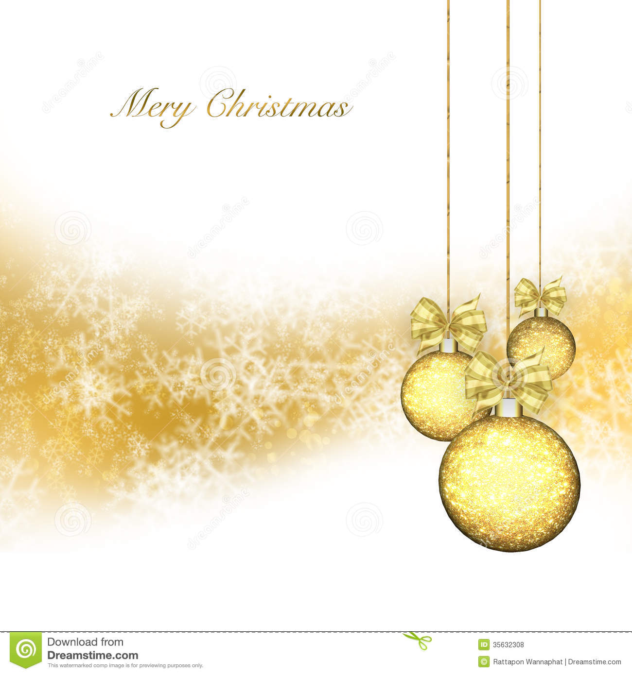 Christmas Background With Gold Baubles Royalty Free Stock